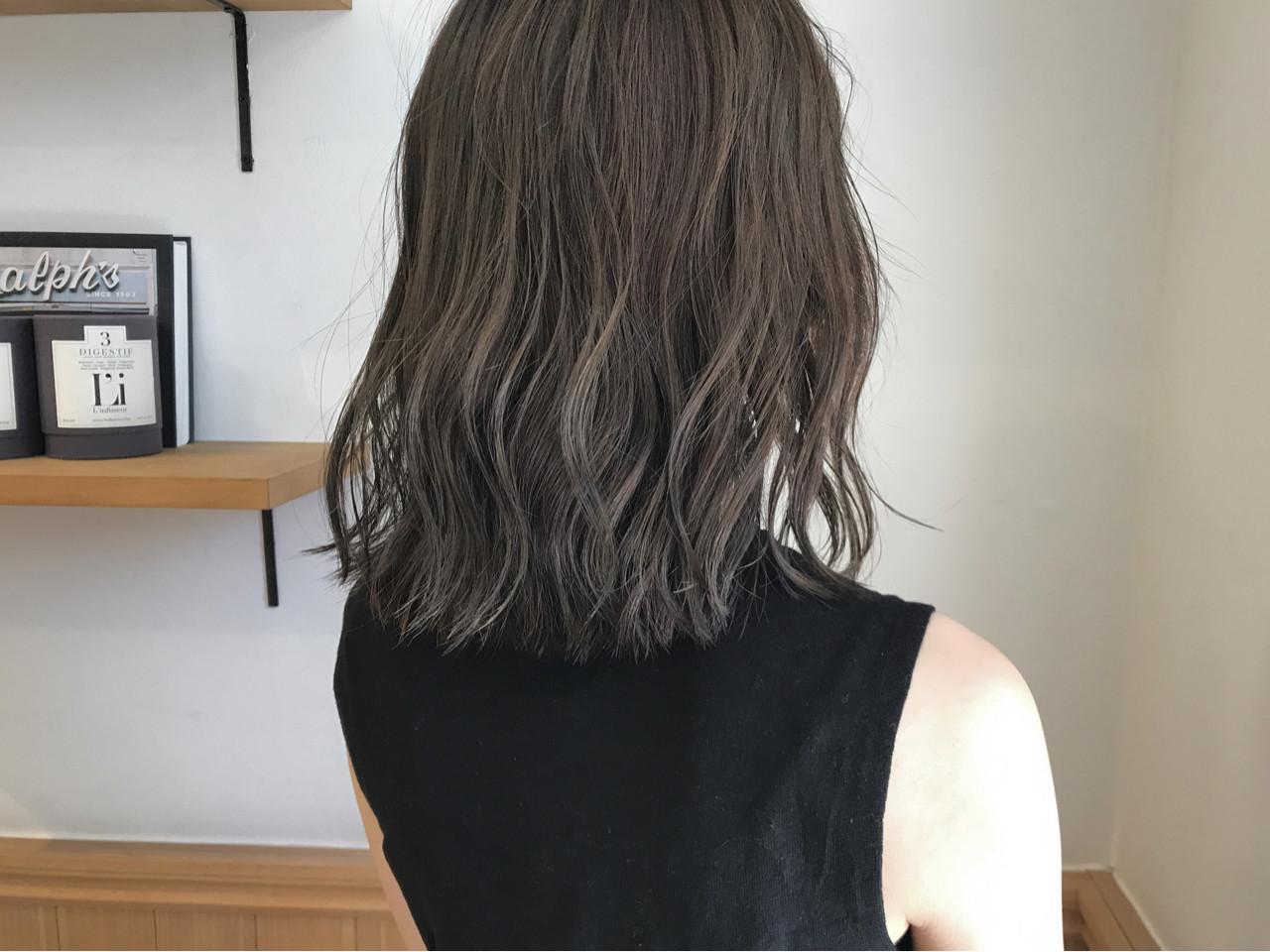 秋 ボブ ロブ ミディアム ヘアスタイルや髪型の写真・画像
