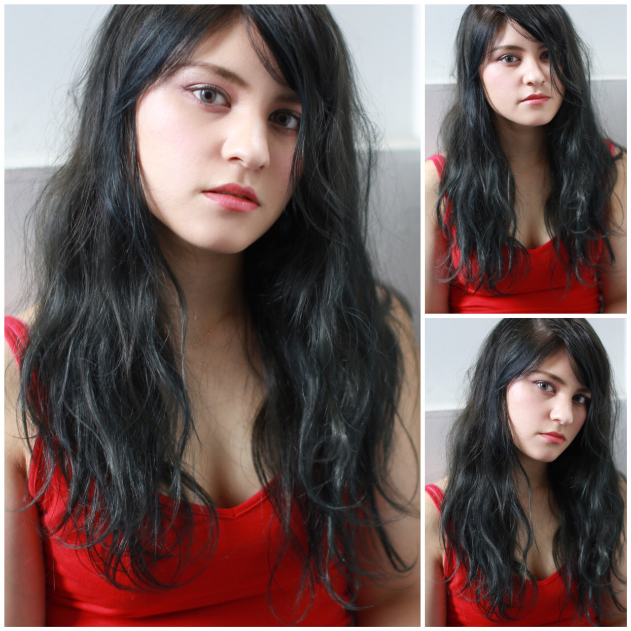 外国人風 ナチュラル 暗髪 ロング ヘアスタイルや髪型の写真・画像