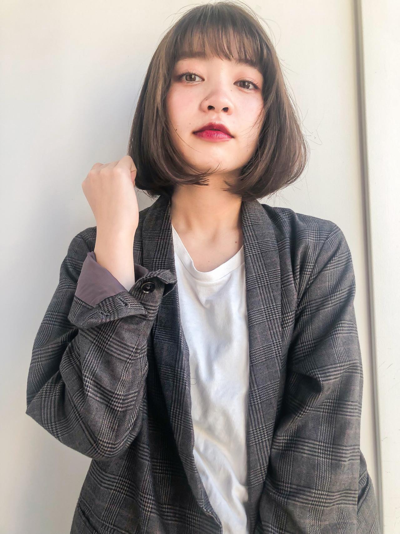 タンバルモリ デート シースルーバング イルミナカラー ヘアスタイルや髪型の写真・画像