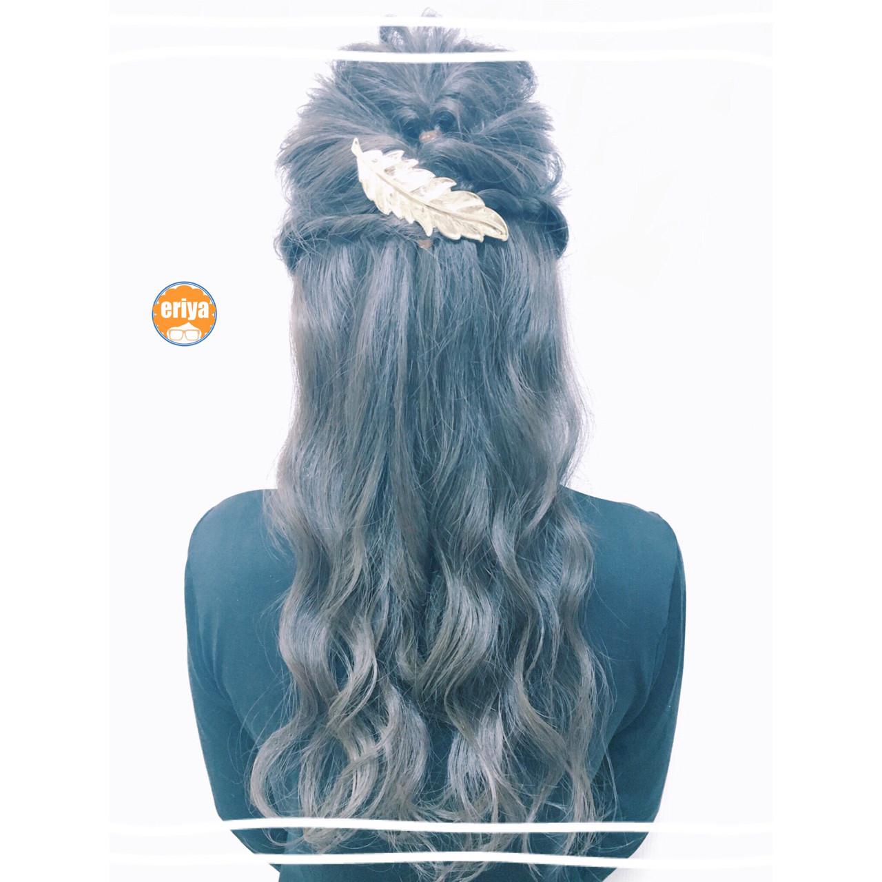 ナチュラル 巻き髪 ヘアアレンジ ロング ヘアスタイルや髪型の写真・画像 | 小川 恵里家 / mao