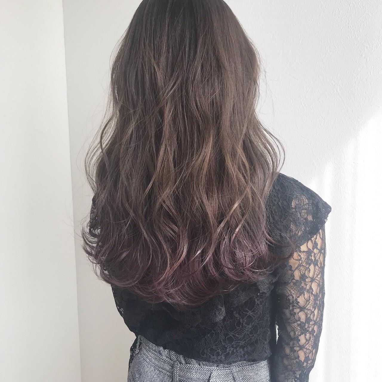女子力 くすみカラー ナチュラル グレージュ ヘアスタイルや髪型の写真・画像 | kurihara ayaka / BEIGE Plus