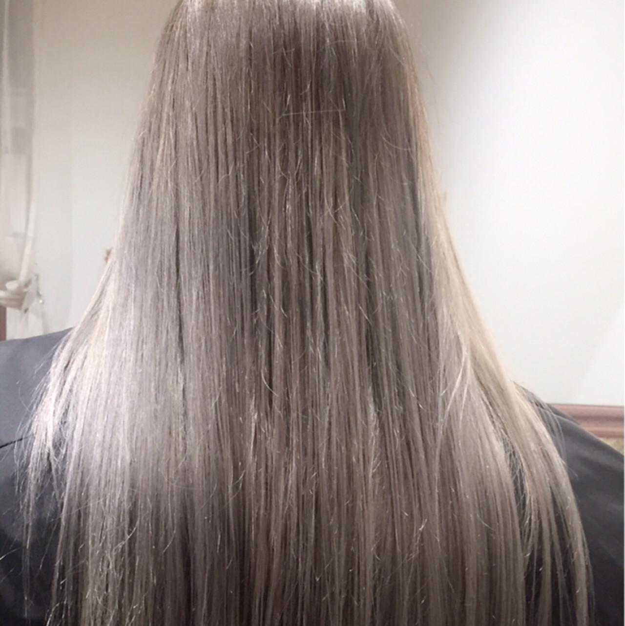 ダークアッシュ 透明感 アッシュ ロング ヘアスタイルや髪型の写真・画像   HAL / フリーでやってます