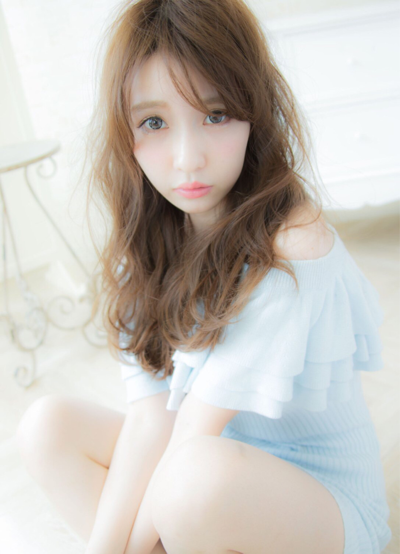 大人かわいい ロング ナチュラル 外国人風 ヘアスタイルや髪型の写真・画像