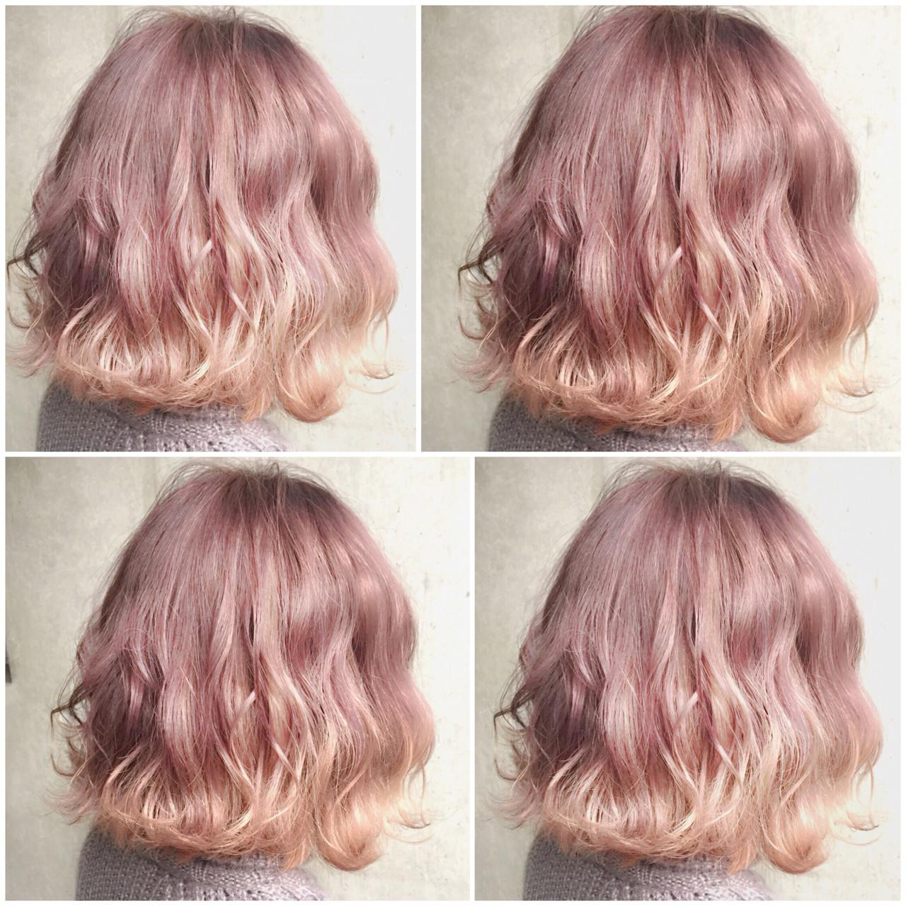 ゆるふわ グラデーションカラー ボブ 外国人風 ヘアスタイルや髪型の写真・画像 | MOTAI / Wille / Wille