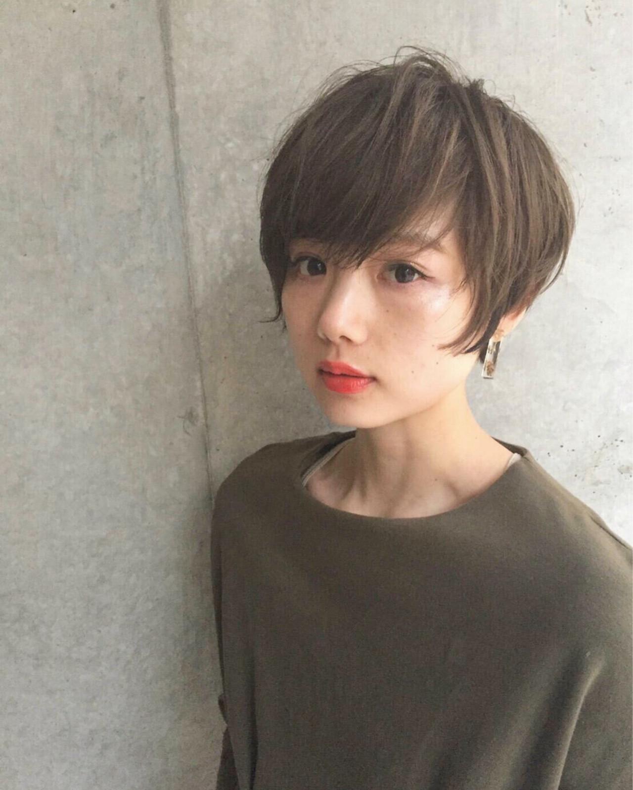 ハイライト 大人女子 小顔 ショート ヘアスタイルや髪型の写真・画像 | 前田賢太 HOULe 表参道 / HOULe