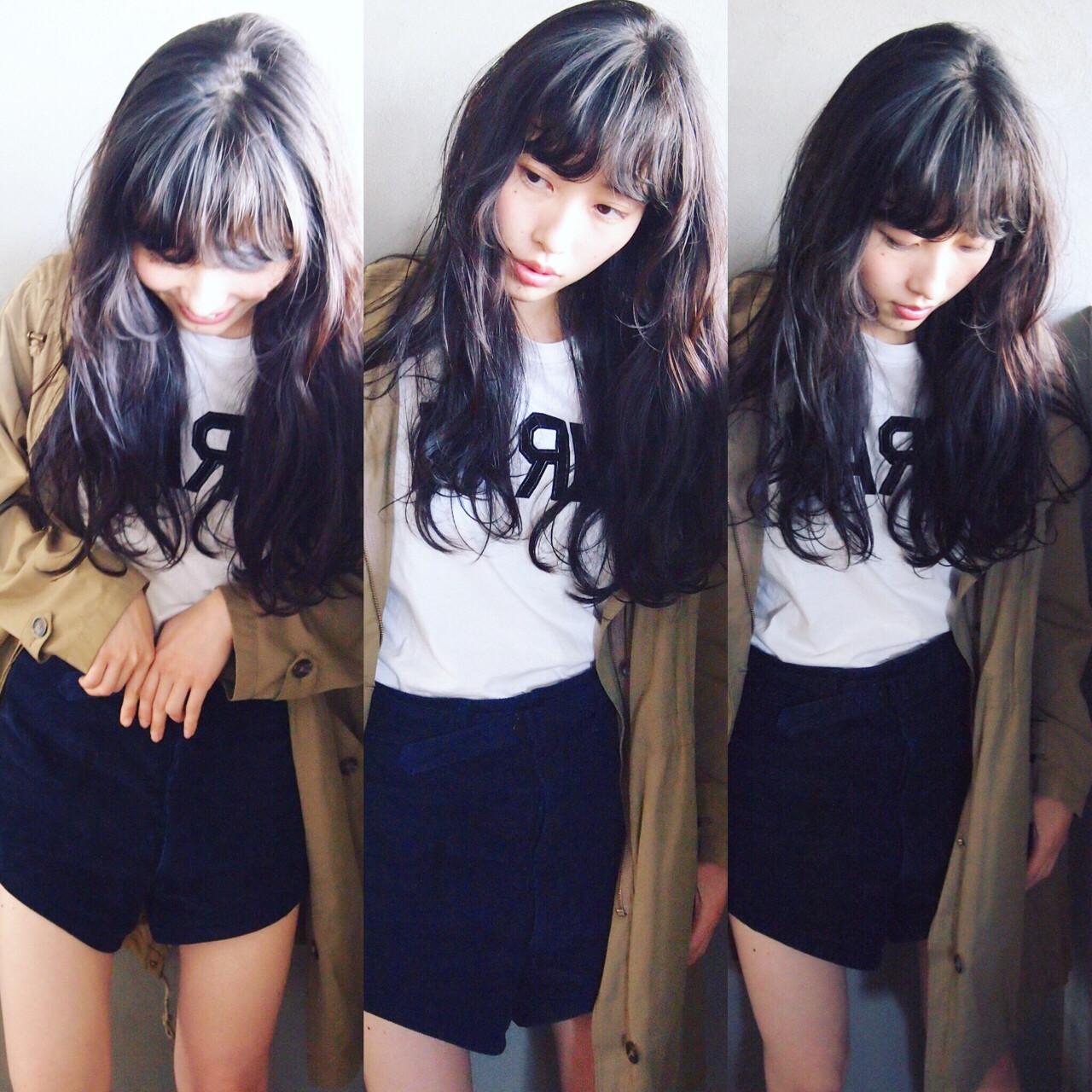 暗髪 黒髪 レイヤーカット ロング ヘアスタイルや髪型の写真・画像