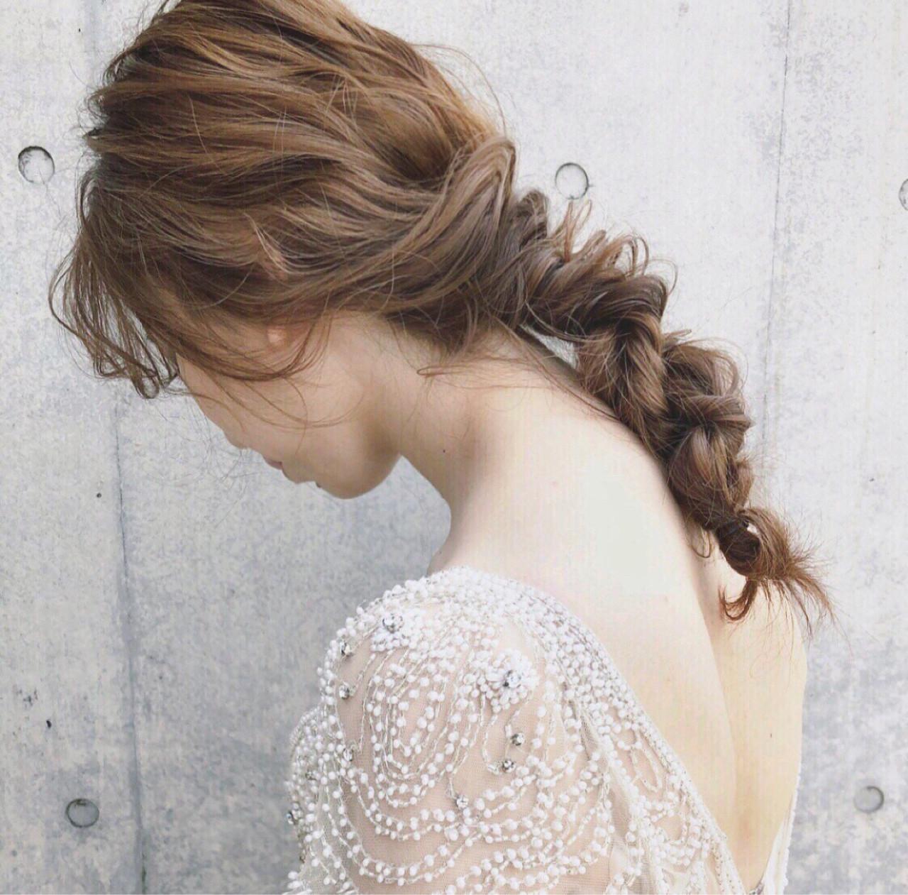 ヘアアレンジ パーティ アンニュイ ゆるふわ ヘアスタイルや髪型の写真・画像