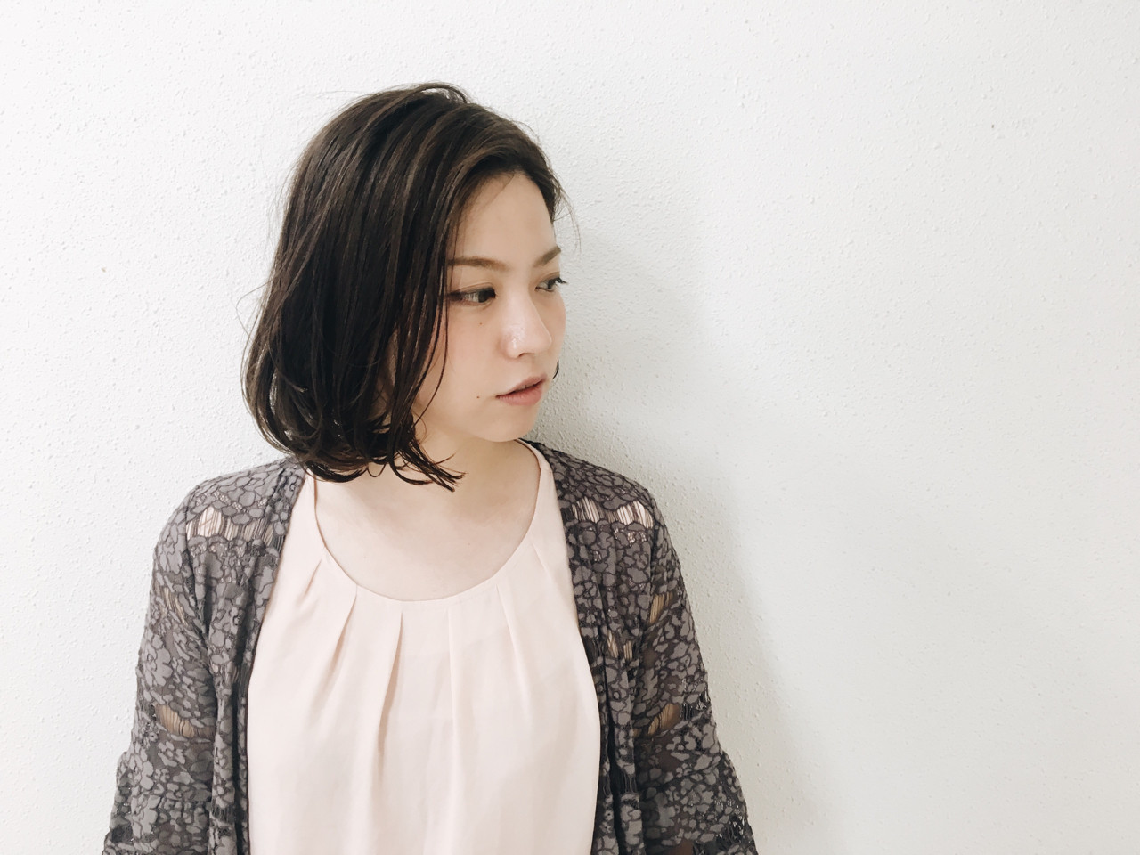 色気 ハイライト ワンカール 透明感 ヘアスタイルや髪型の写真・画像
