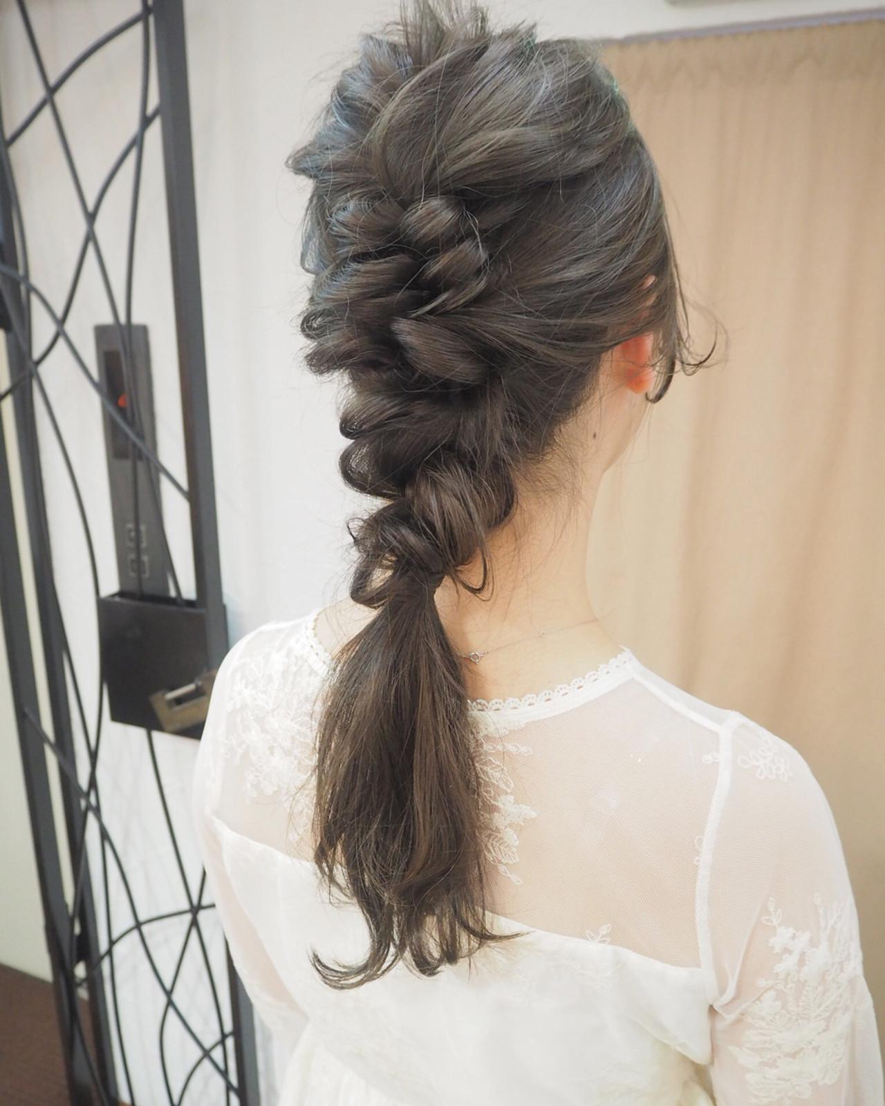 ナチュラル 結婚式 くるりんぱ 簡単ヘアアレンジ ヘアスタイルや髪型の写真・画像 | 宮迫 真美 / airfeel