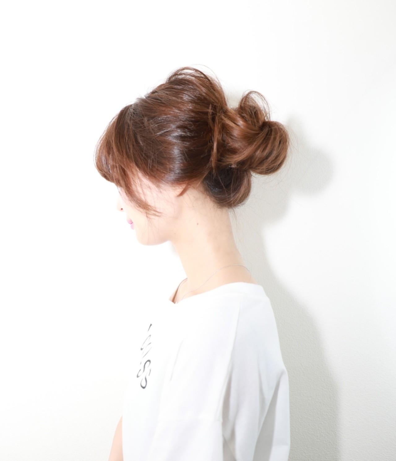ヘアアレンジ 色気 抜け感 夏 ヘアスタイルや髪型の写真・画像