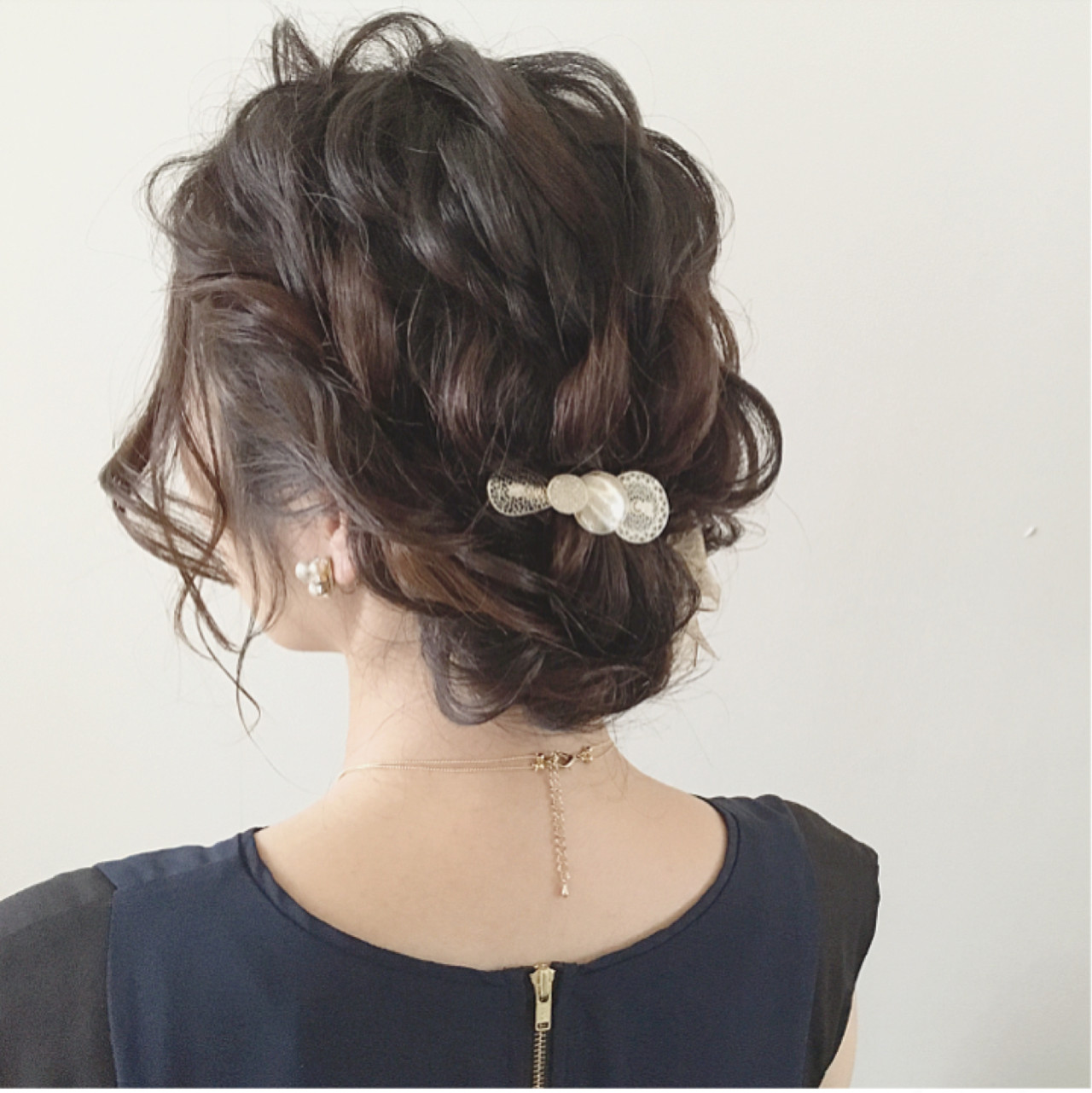 ヘアアレンジ 大人かわいい 結婚式 ナチュラル ヘアスタイルや髪型の写真・画像