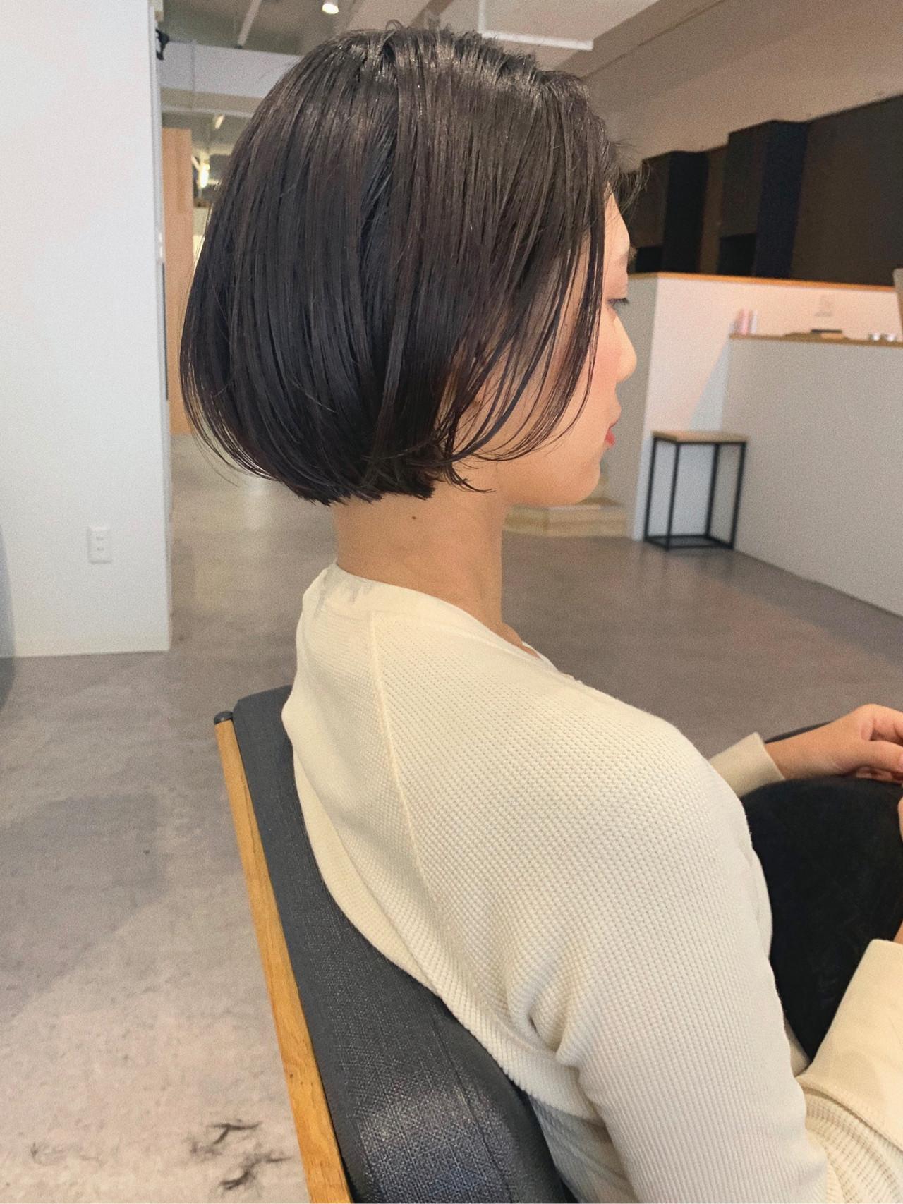デート ボブ オフィス 大人かわいい ヘアスタイルや髪型の写真・画像   YUJI / LIICHI / LIICHI (リイチ)