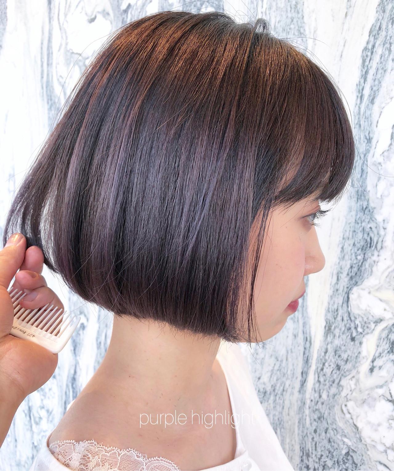 ラベンダーアッシュ パープルアッシュ ナチュラル ラベンダーカラー ヘアスタイルや髪型の写真・画像