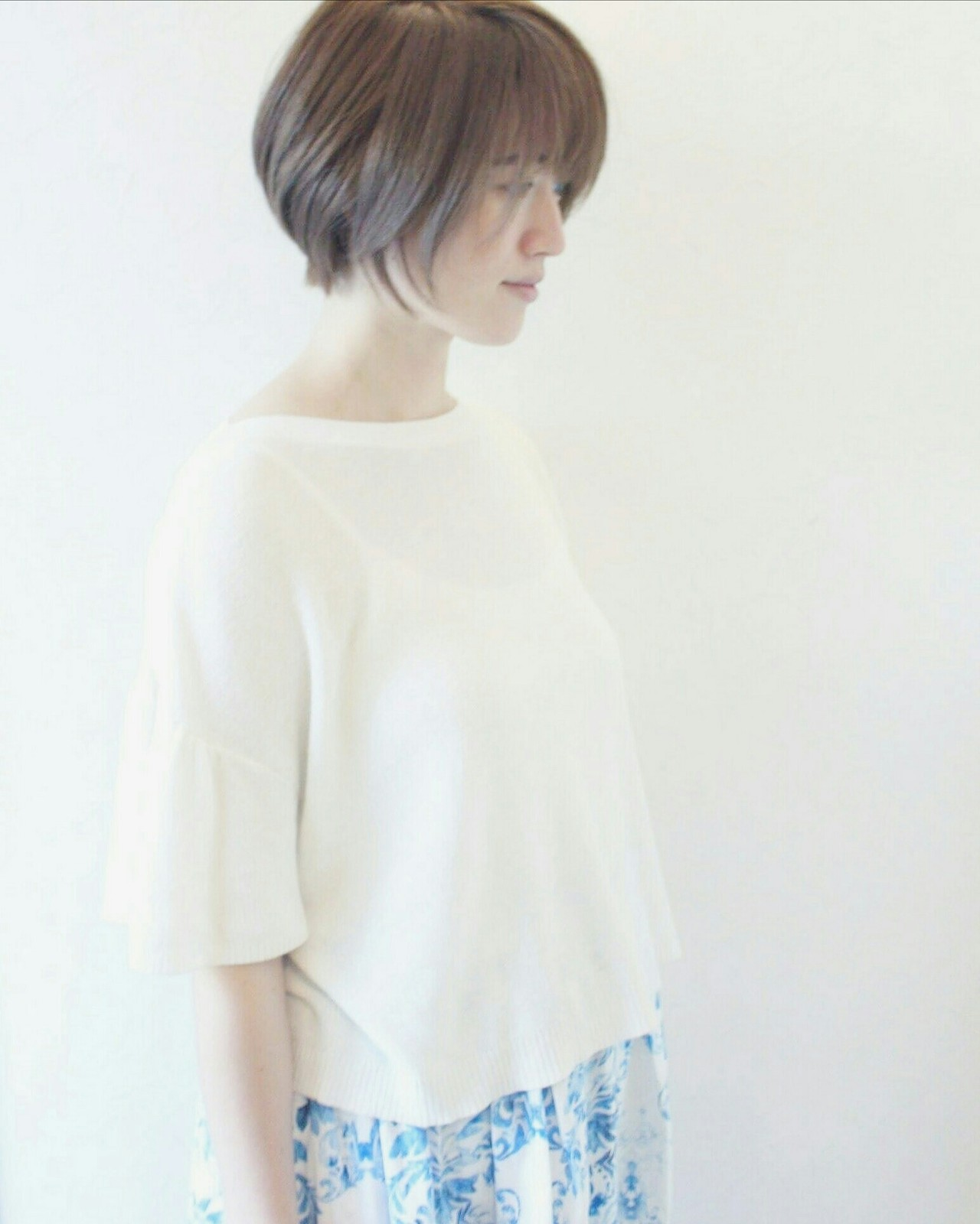 大人女子 大人かわいい こなれ感 涼しげ ヘアスタイルや髪型の写真・画像   Seiichirou Ueda / atelier luretta. Ink blue hair color