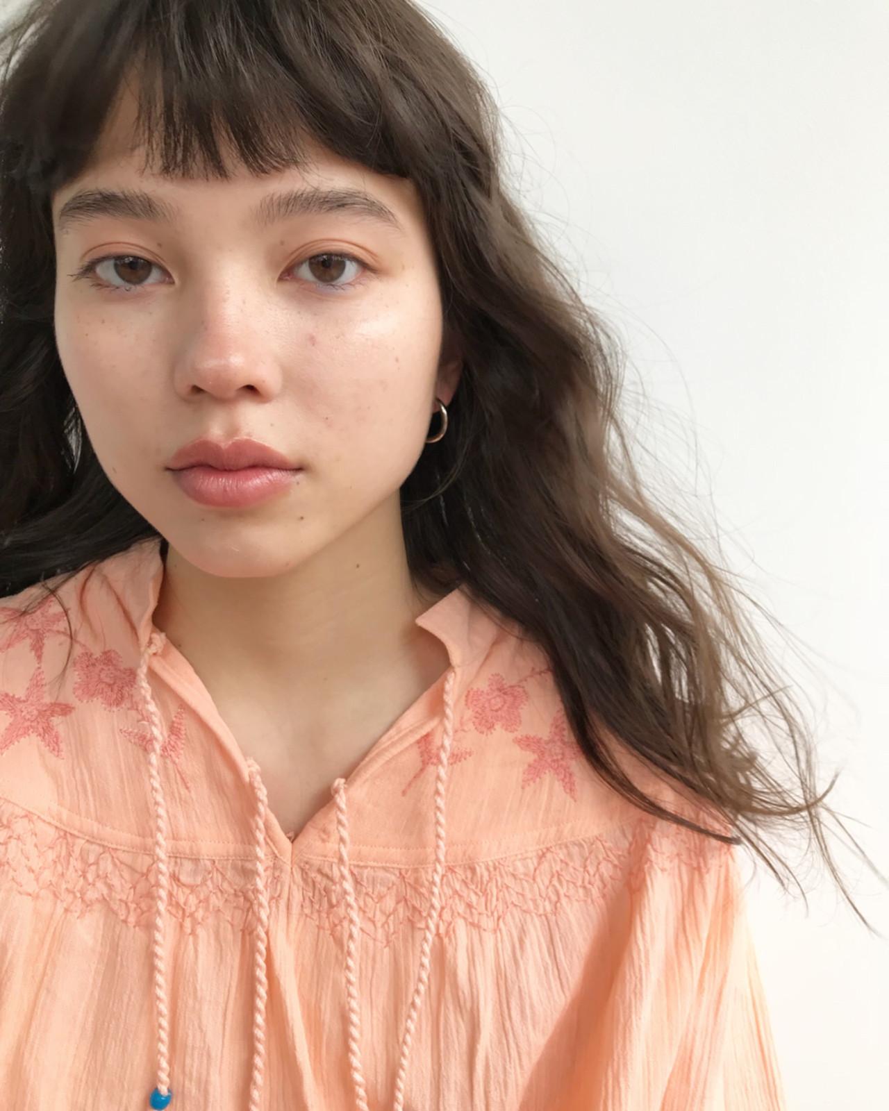 前髪あり ナチュラル 簡単 パーマ ヘアスタイルや髪型の写真・画像   東峰 愛 / nanuk shibuya