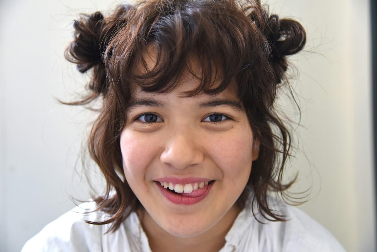 ガーリー ボブ 外国人風 ハーフアップ ヘアスタイルや髪型の写真・画像