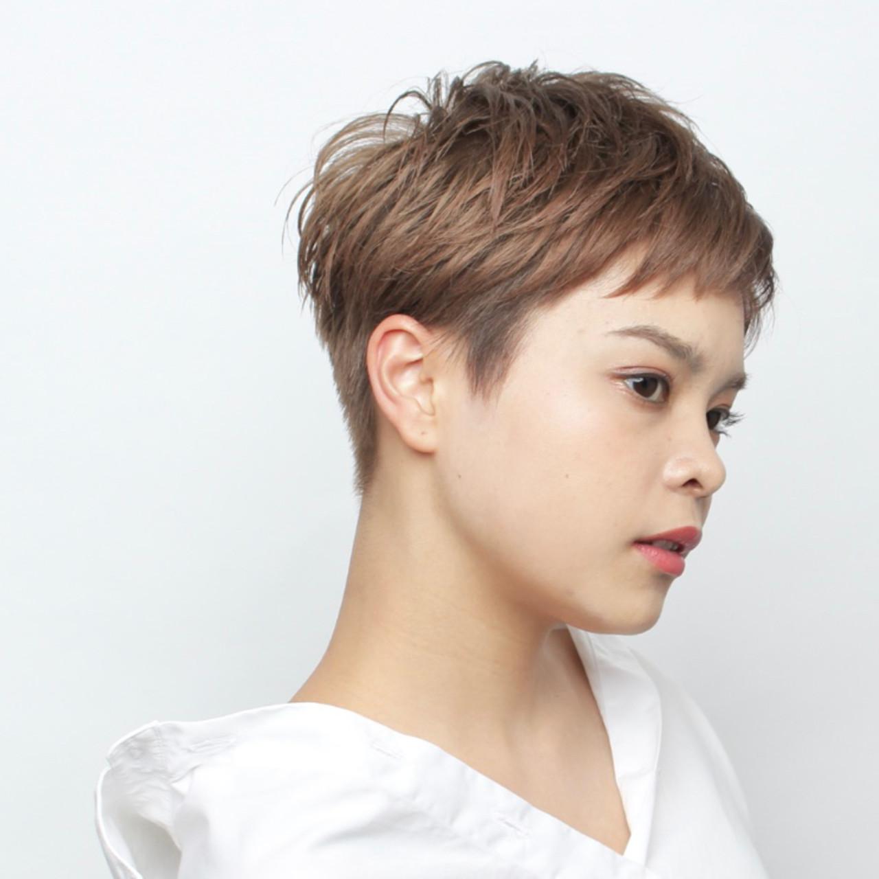 ショート 大人女子 大人ショート ナチュラル ヘアスタイルや髪型の写真・画像