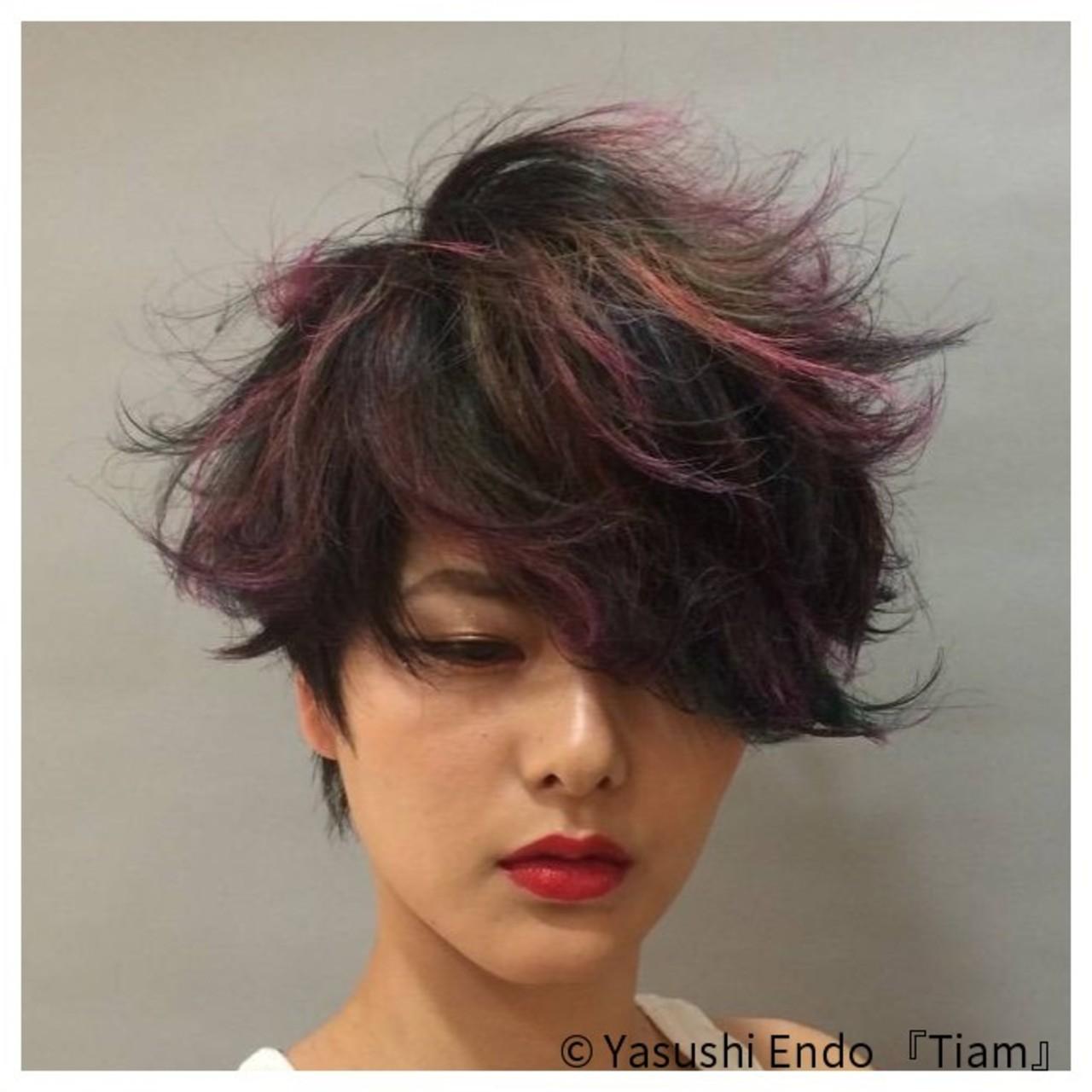 ブリーチオンカラー ボブ イルミナカラー ショートボブ ヘアスタイルや髪型の写真・画像