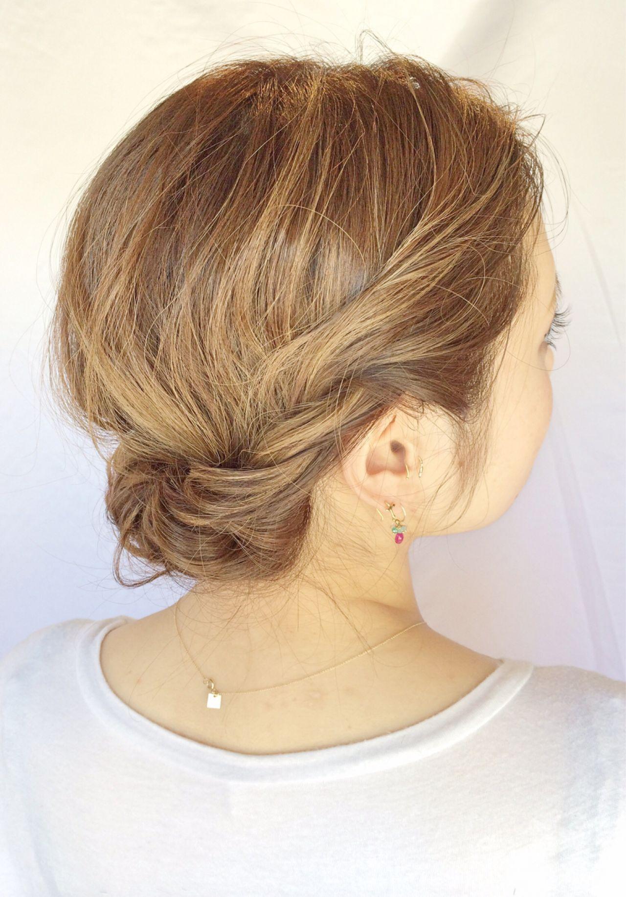 ナチュラル フェミニン 外国人風 ミディアム ヘアスタイルや髪型の写真・画像 | Sachiko Handa / assort