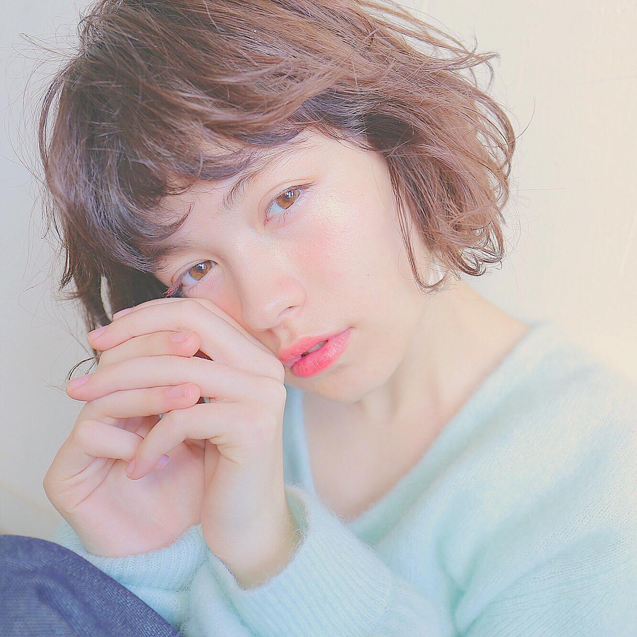 モテ髪 ボブ 外国人風 愛され ヘアスタイルや髪型の写真・画像 | 米澤 香央里 / SYAN