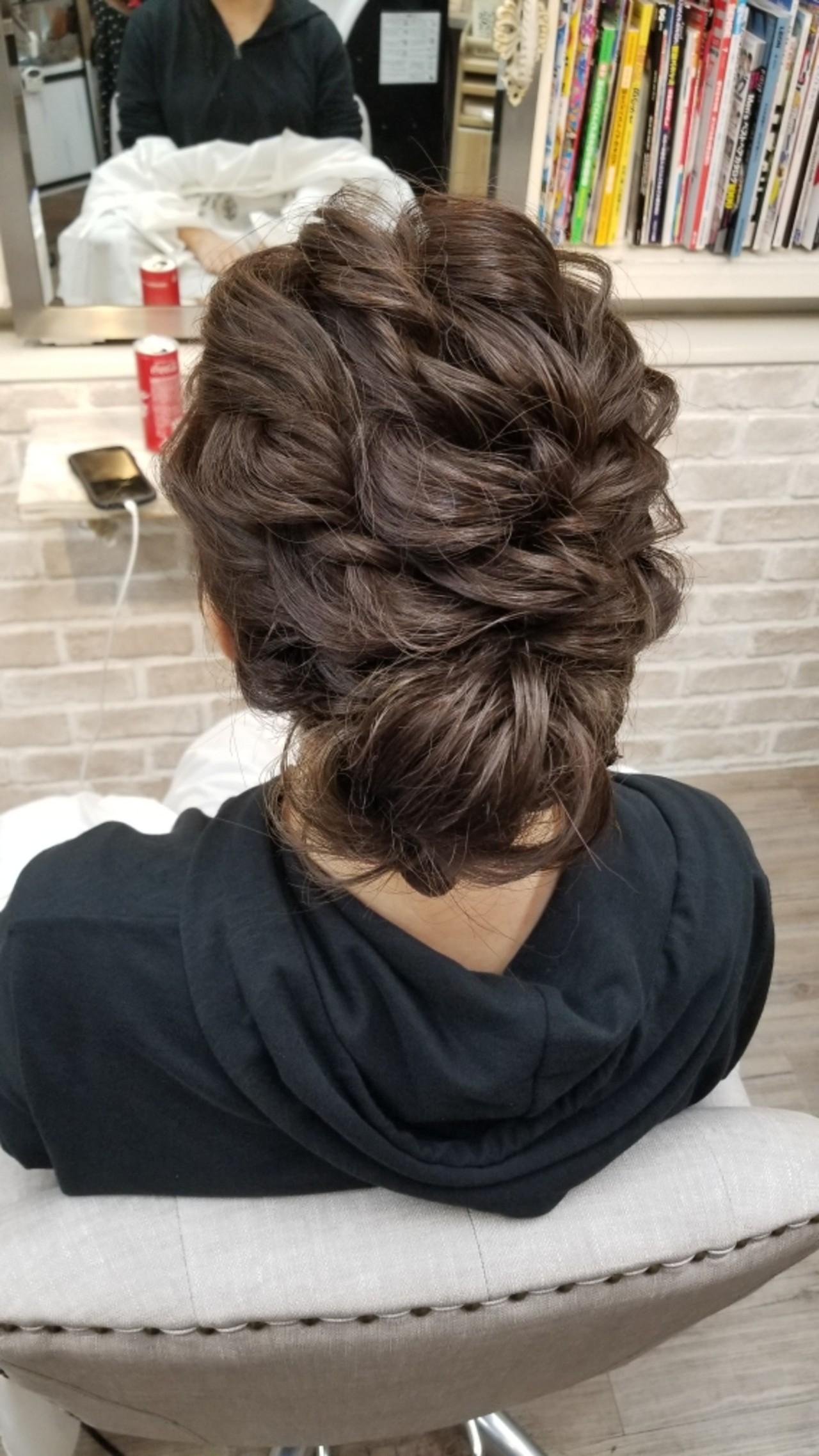 パーティ 結婚式 涼しげ セミロング ヘアスタイルや髪型の写真・画像 | Naoko Miura / avant