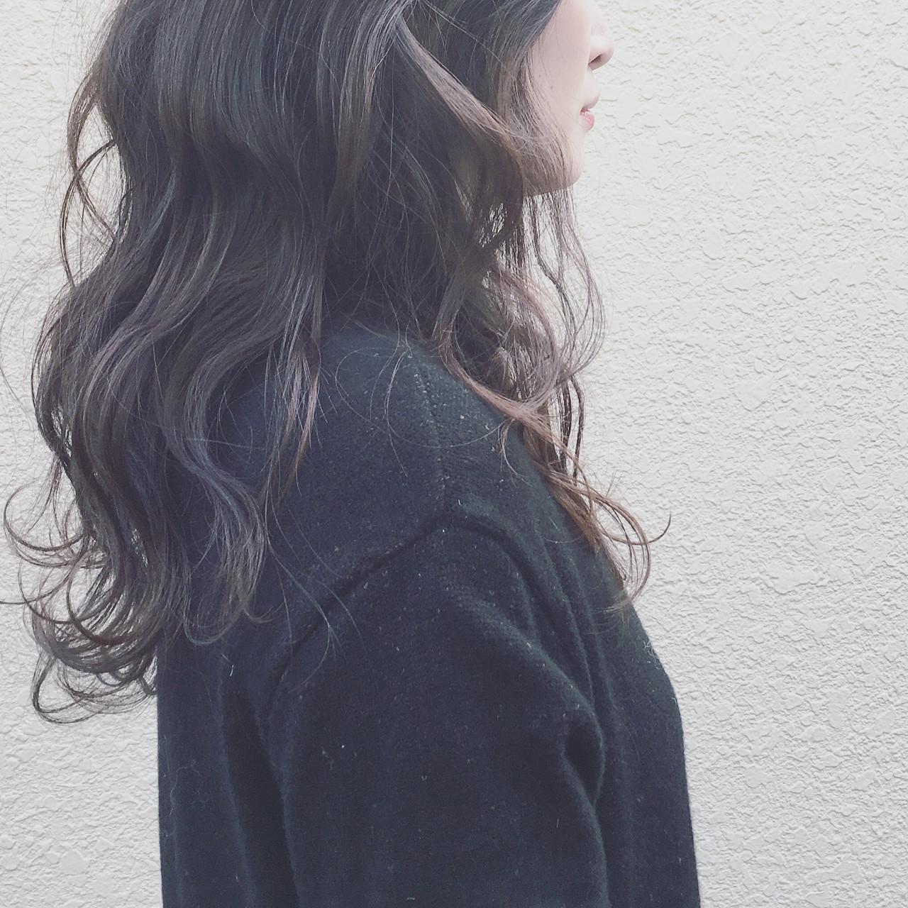 外国人風 デジタルパーマ 暗髪 ナチュラル ヘアスタイルや髪型の写真・画像