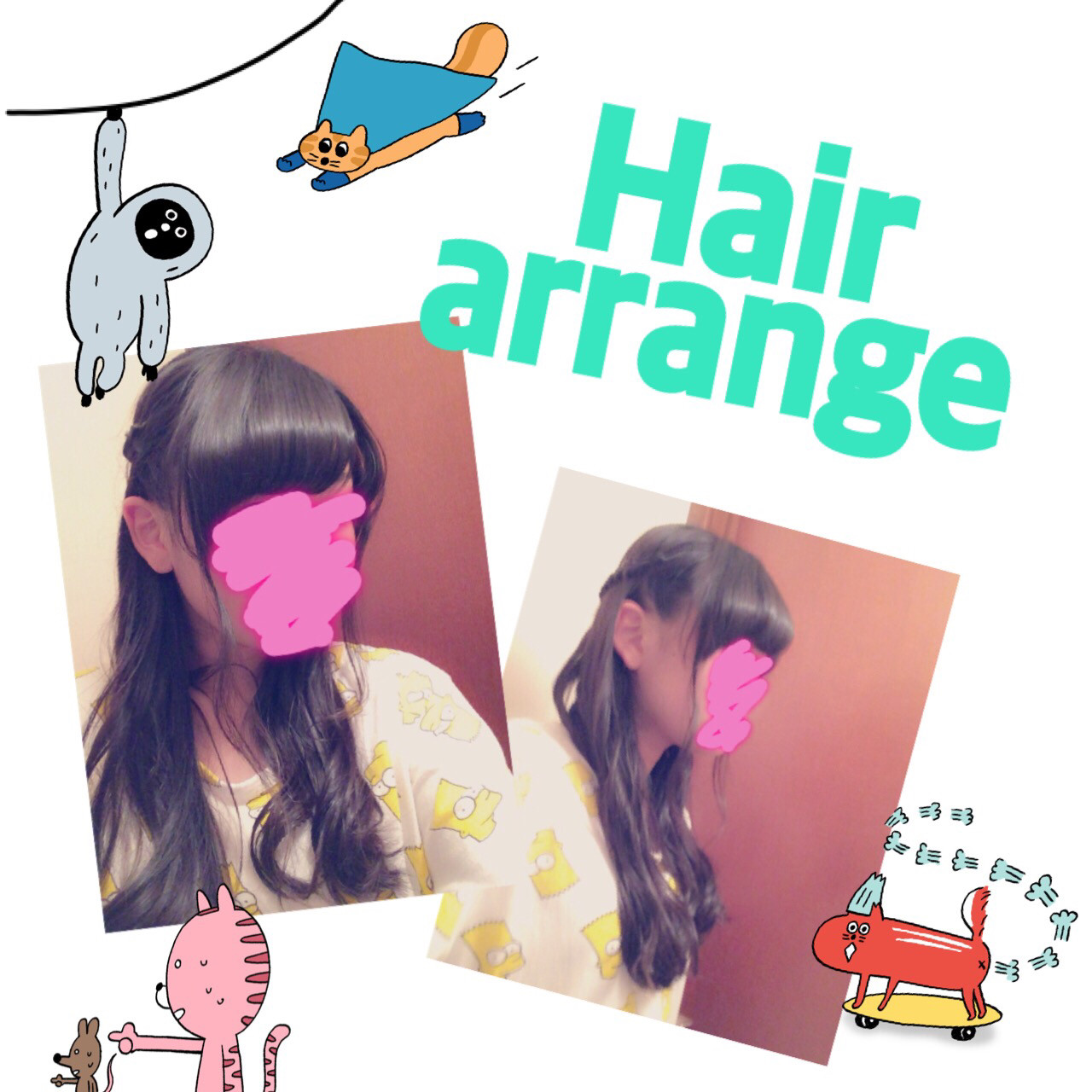 ゆるふわ ハーフアップ ショート ヘアアレンジ ヘアスタイルや髪型の写真・画像 | あやね▷11.8参戦 /