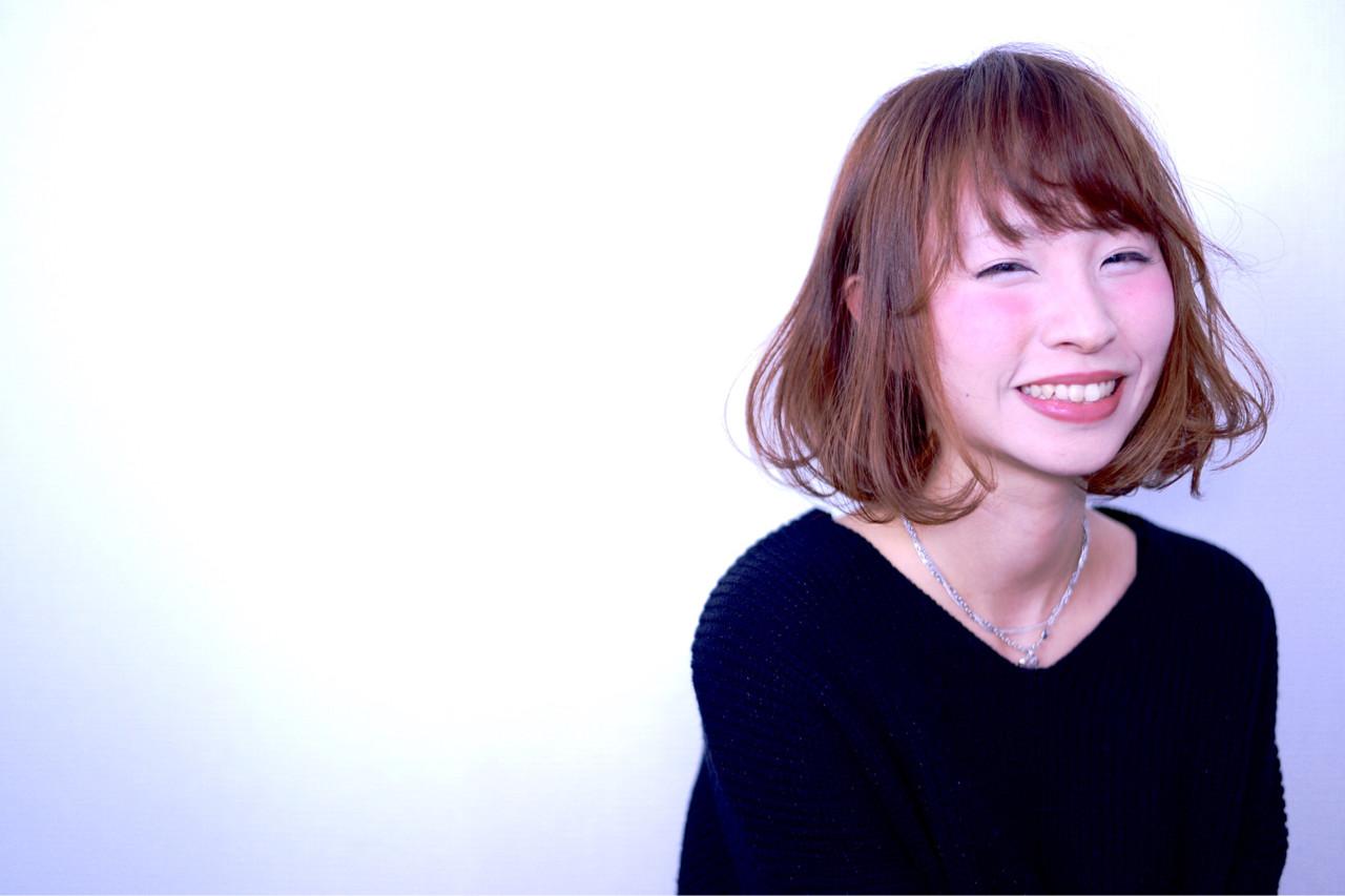 ナチュラル 前髪あり パーマ フェミニン ヘアスタイルや髪型の写真・画像 | ササザキ ヒデトシ / NICOLA