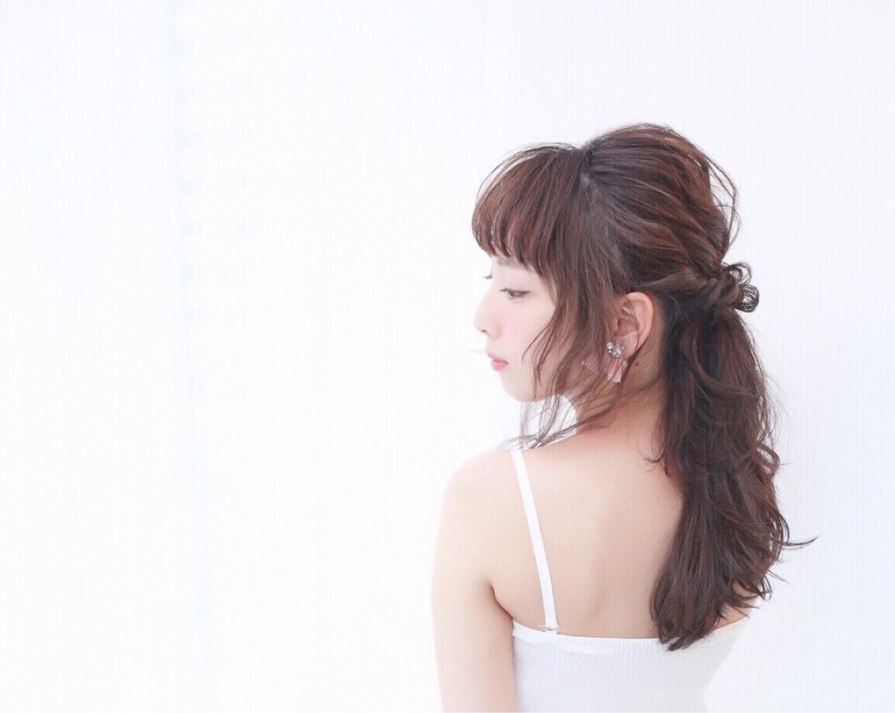 ヘアアレンジ フェミニン ロング ブライダル ヘアスタイルや髪型の写真・画像