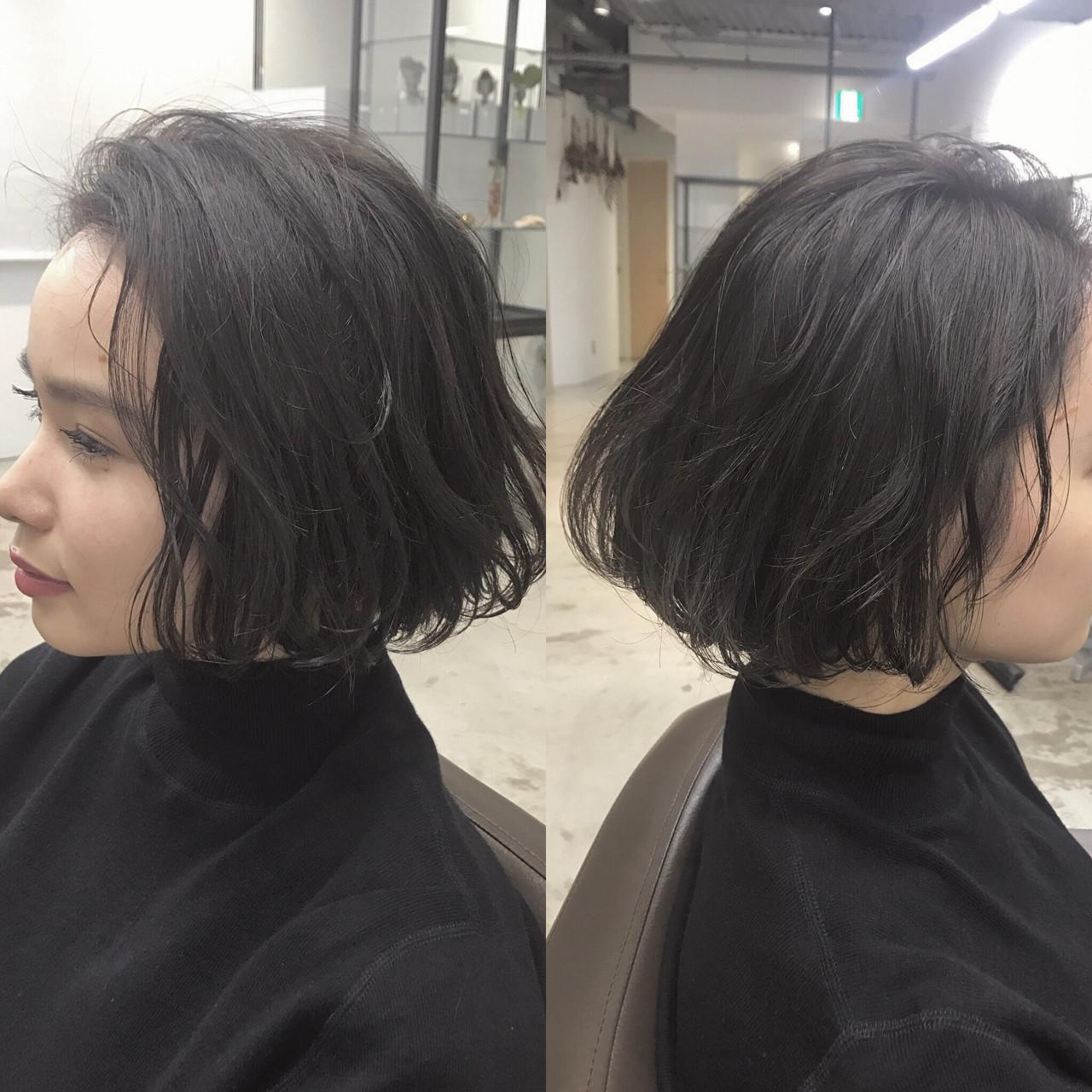 色気 ナチュラル 黒髪 ニュアンス ヘアスタイルや髪型の写真・画像 | UEKI/nanuk / nanuk二子玉川
