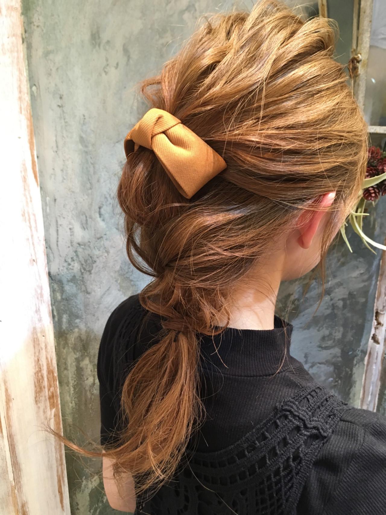 ハーフアップ くせ毛風 ショート 簡単ヘアアレンジ ヘアスタイルや髪型の写真・画像