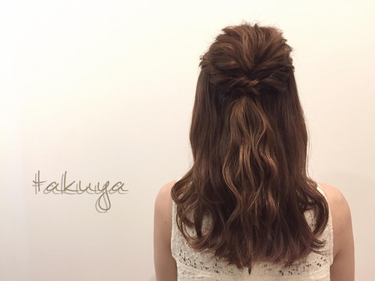 ロング 簡単ヘアアレンジ ショート 波ウェーブ ヘアスタイルや髪型の写真・画像