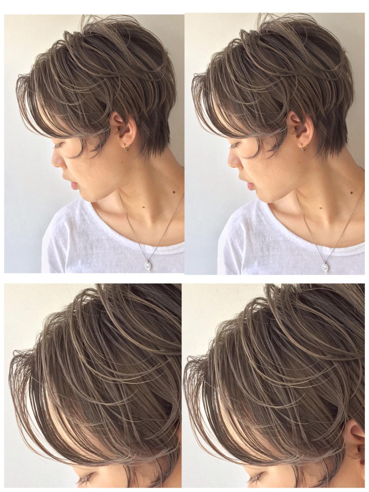 ハイライト グレージュ ストリート 外国人風 ヘアスタイルや髪型の写真・画像 | 高沼 達也 / byトルネード / トルネード