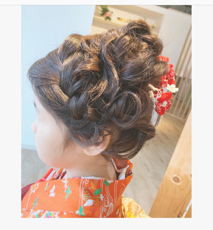 和装 和装ヘア ミディアム フェミニン ヘアスタイルや髪型の写真・画像