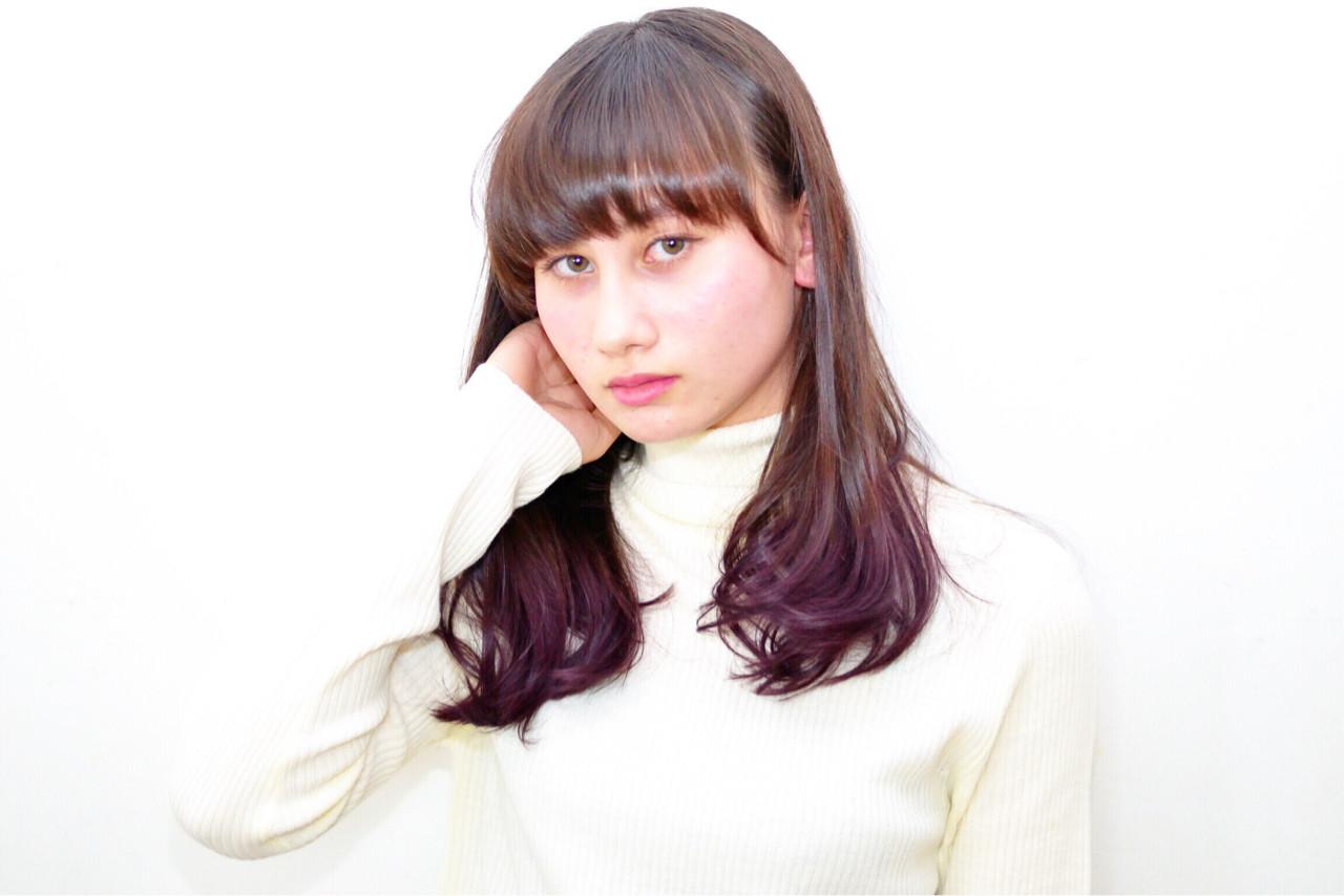 アッシュ グラデーションカラー ストリート ハイライト ヘアスタイルや髪型の写真・画像   江上拓郎 / AQICE OBATA