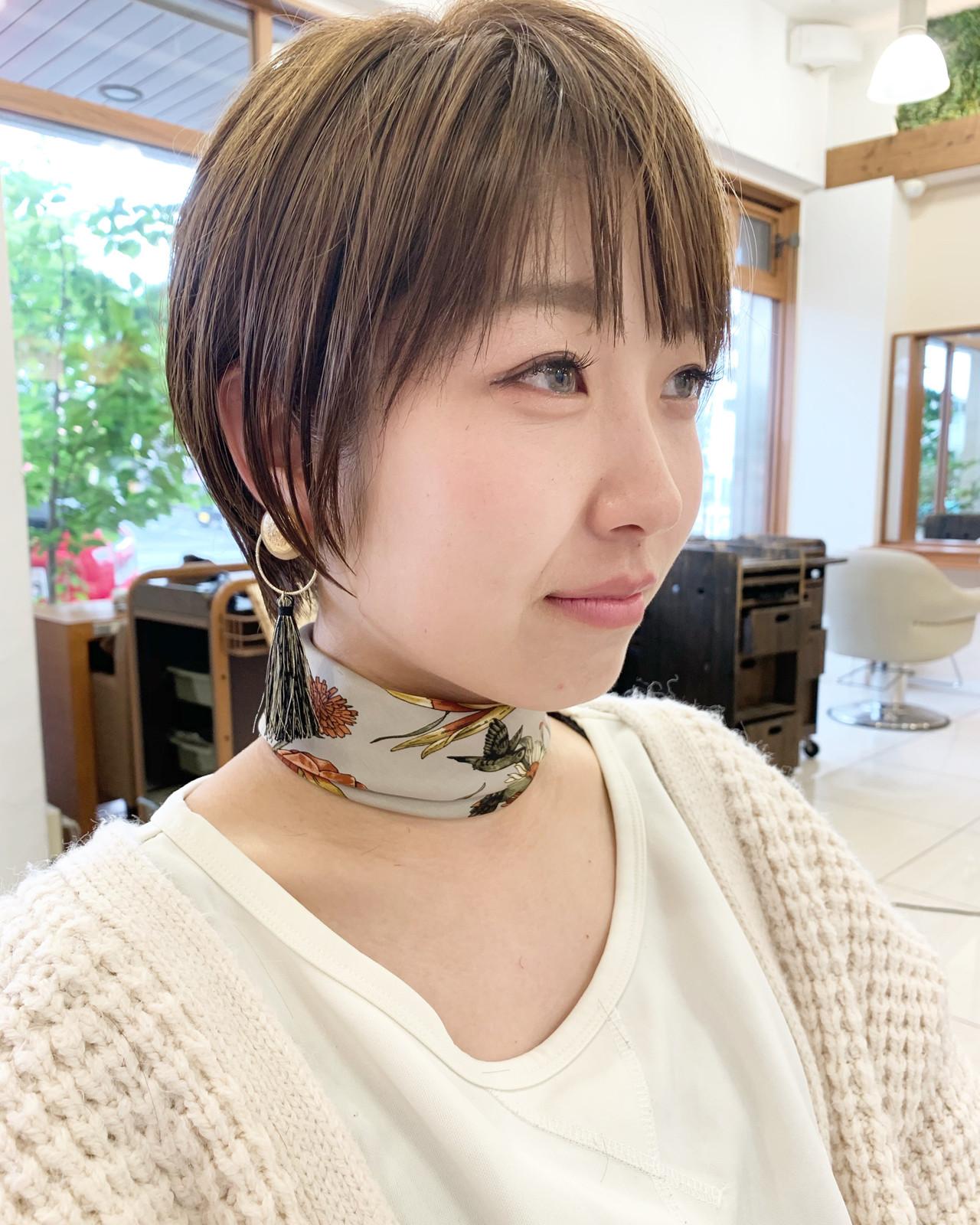 可愛い ふんわり ふんわりショート ショートヘア ヘアスタイルや髪型の写真・画像
