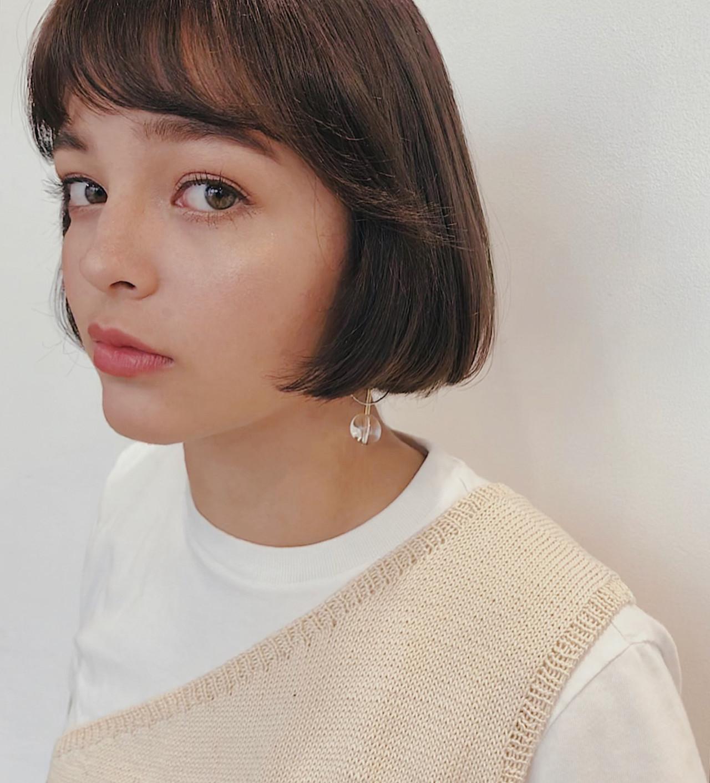 春 デート ボブ ガーリー ヘアスタイルや髪型の写真・画像   sena / GARDEN harajuku