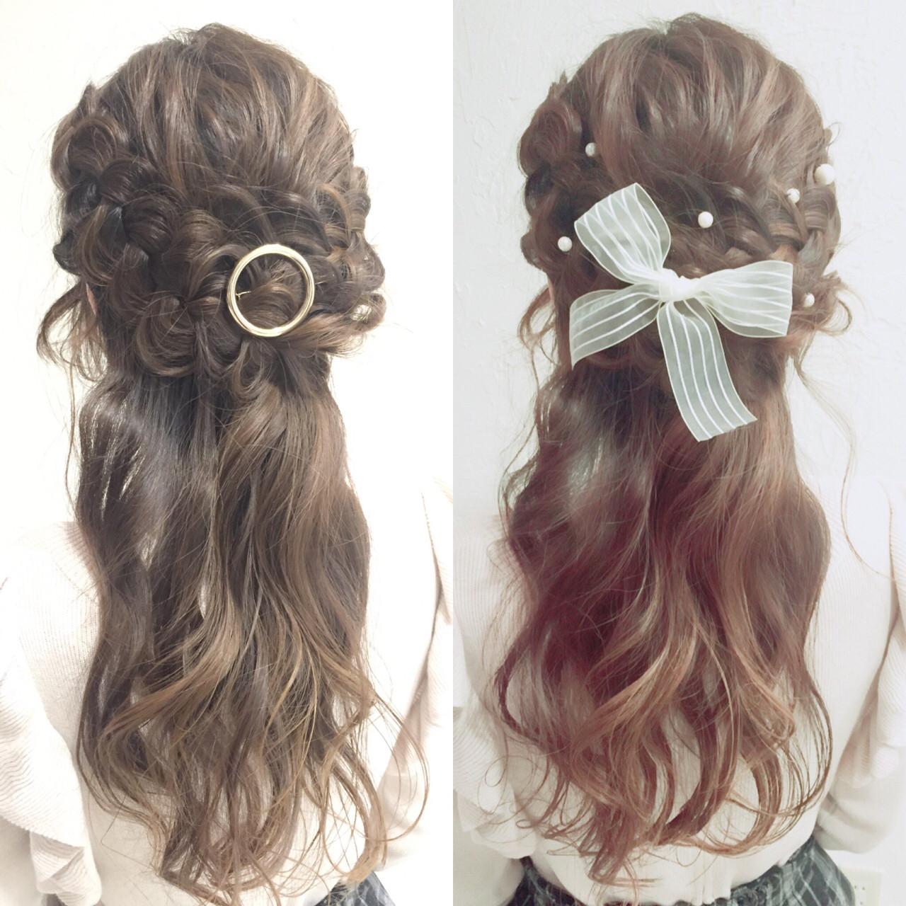 ショート パーティ ヘアアレンジ ゆるふわ ヘアスタイルや髪型の写真・画像 | 大平 結花 / GLAMOROUS (グラマラス)