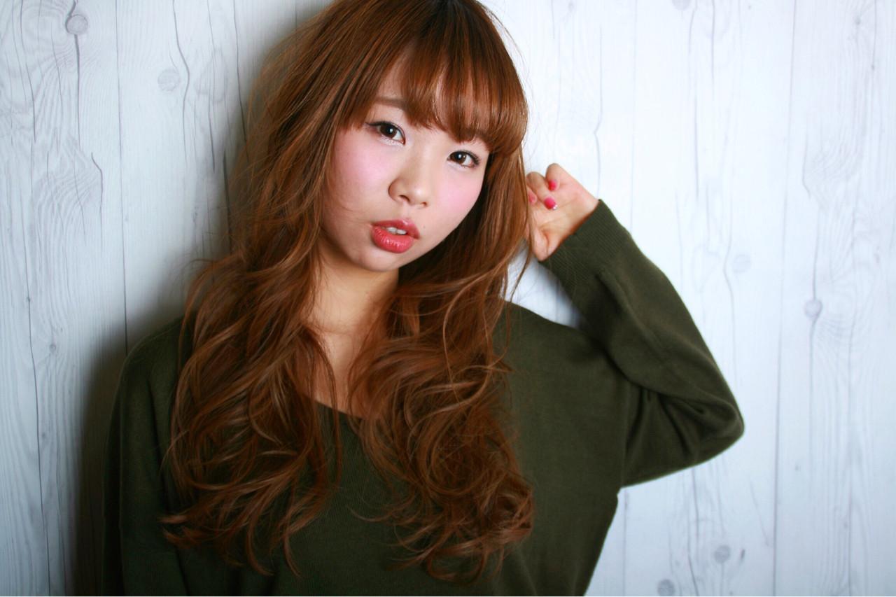 モテ髪 ロング ナチュラル 前髪あり ヘアスタイルや髪型の写真・画像