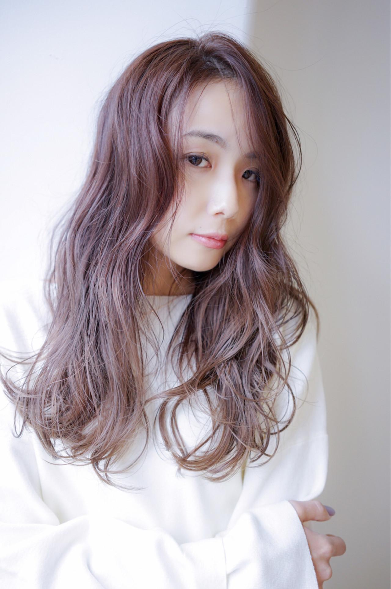ゆるふわ セミロング 外国人風カラー ラベンダー ヘアスタイルや髪型の写真・画像   田渕 英和/vicushair / vicushair