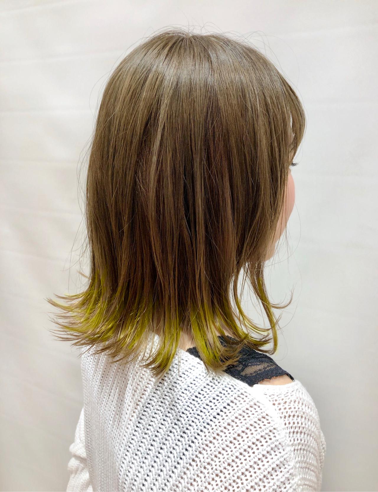 ストリート デート ベージュ ミディアム ヘアスタイルや髪型の写真・画像