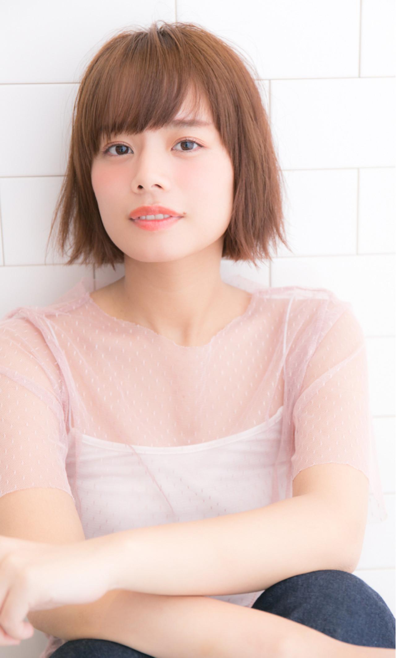 フェミニン 小顔 ボブ 大人女子 ヘアスタイルや髪型の写真・画像 | GARDEN 長田耕太 /  GARDEN