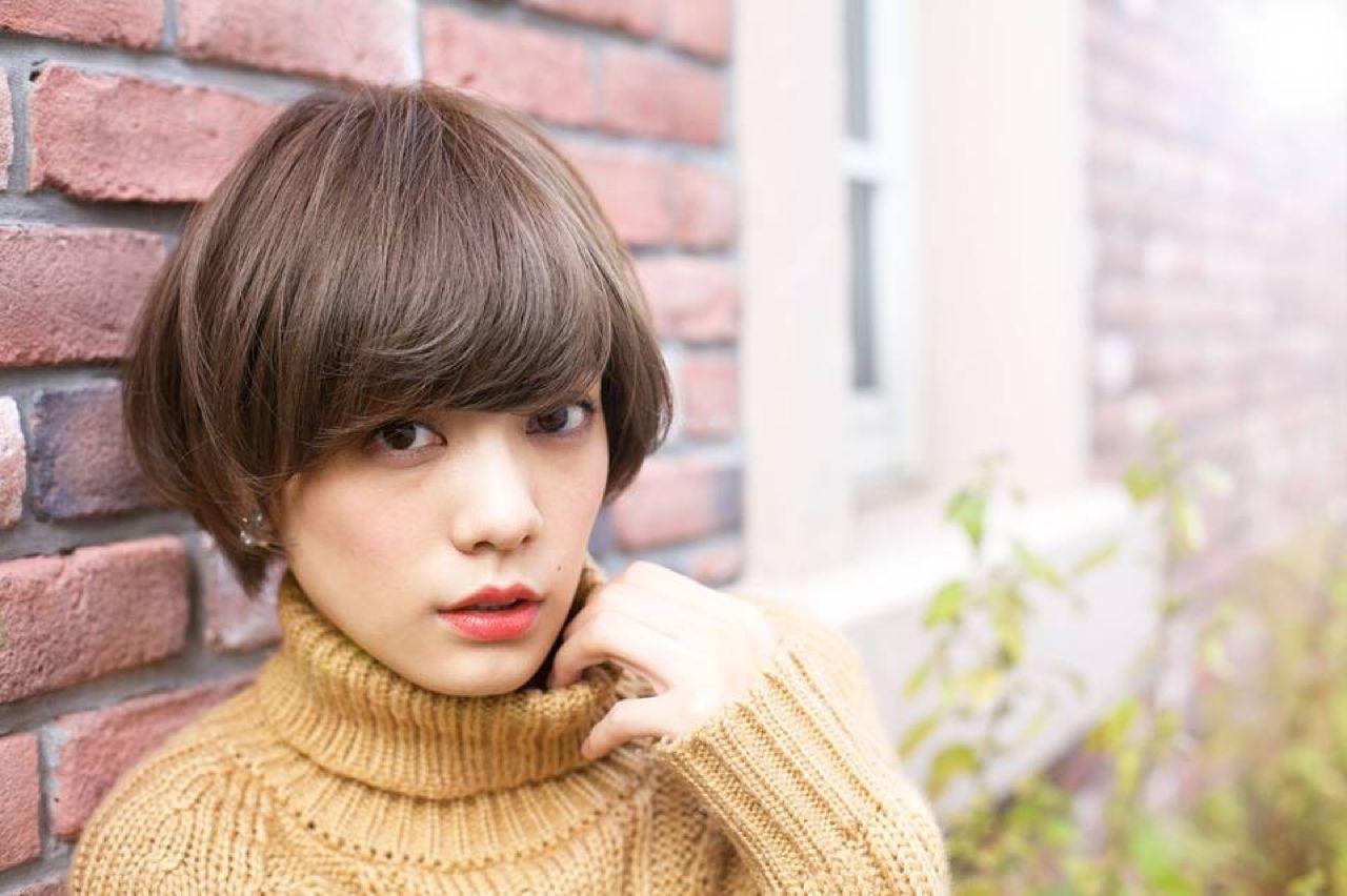 ナチュラル 外国人風カラー ショート モテ髪 ヘアスタイルや髪型の写真・画像