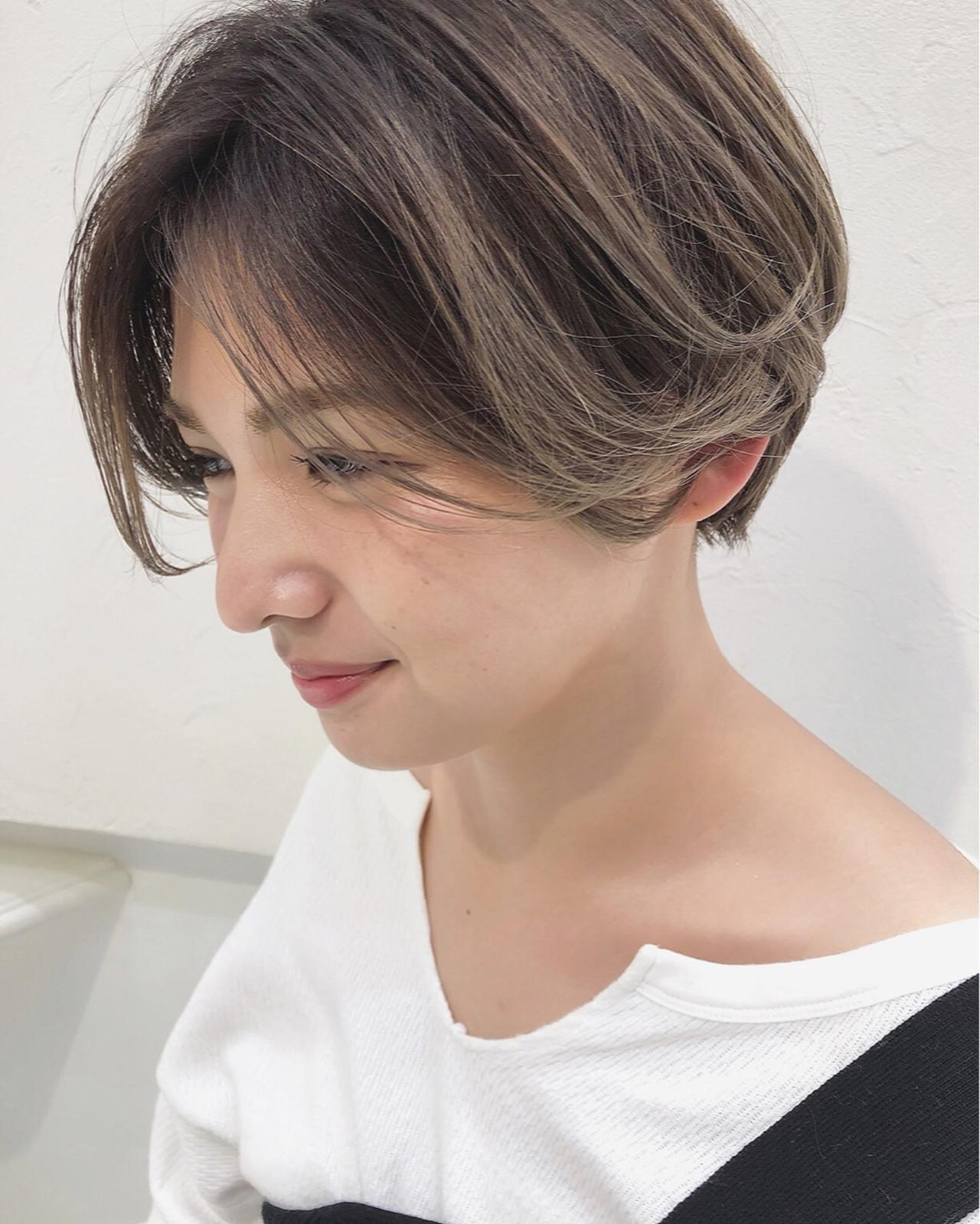 ストリート 3Dカラー アッシュベージュ ショート ヘアスタイルや髪型の写真・画像 | イシガキ ダイスケ / C-LOVe 中目黒