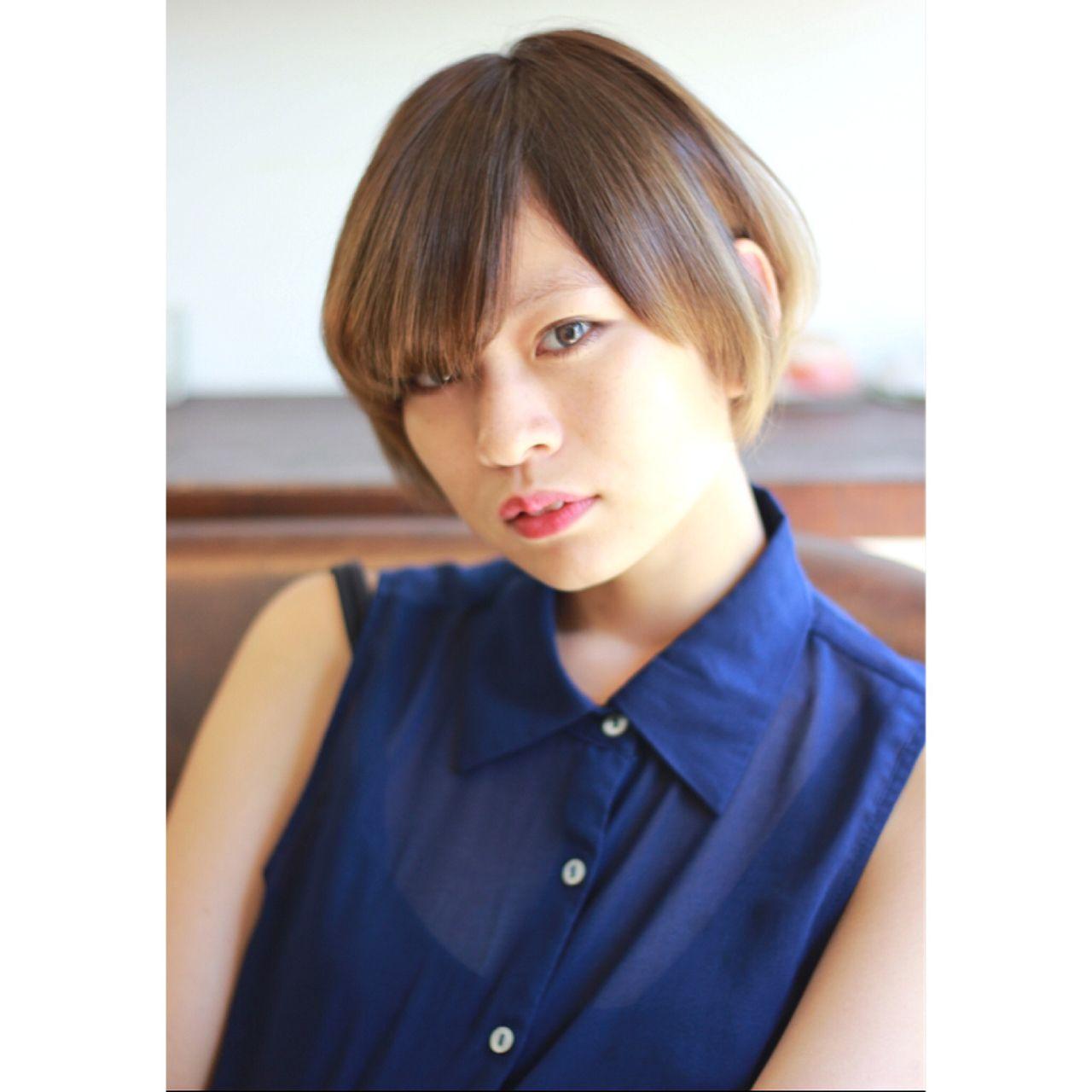 大人かわいい ショート グラデーションカラー コンサバ ヘアスタイルや髪型の写真・画像