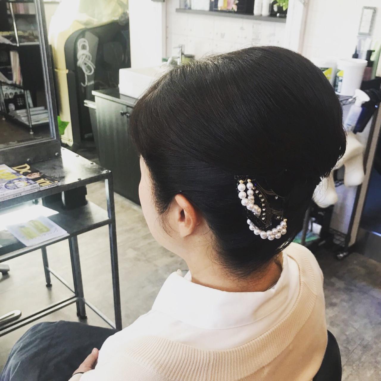 結婚式 上品 和装 ヘアアレンジ ヘアスタイルや髪型の写真・画像