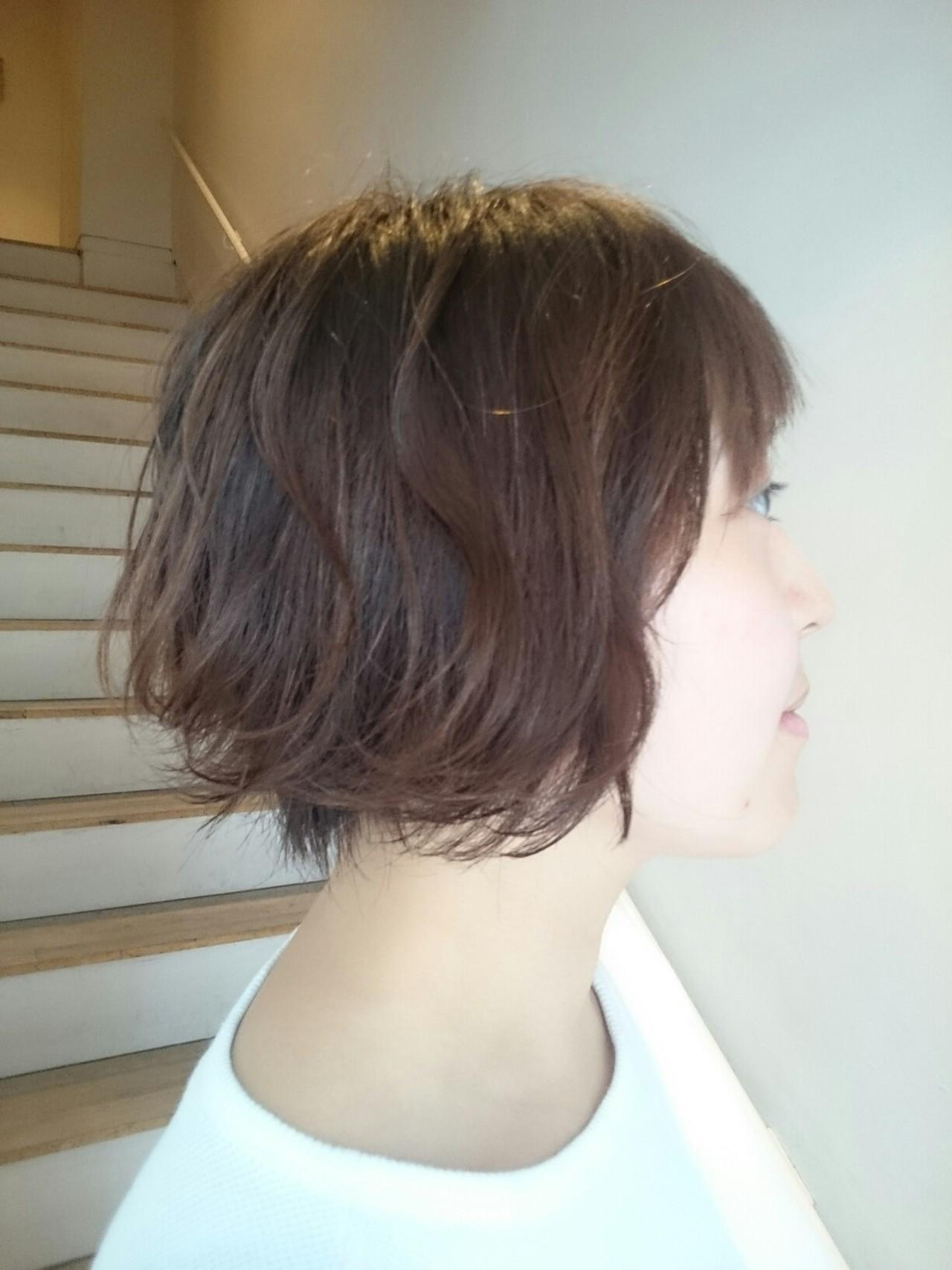 ナチュラル 伸ばしかけ ボブ カール ヘアスタイルや髪型の写真・画像   haruna / tico