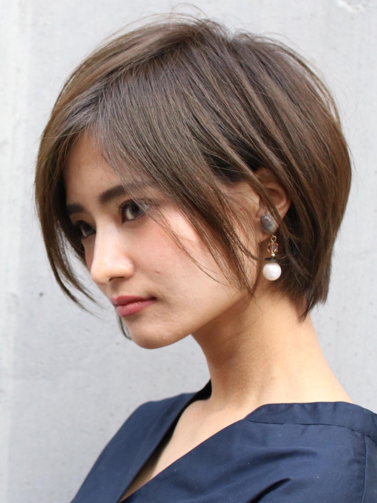 モテ髪 大人かわいい ショート 色気 ヘアスタイルや髪型の写真・画像