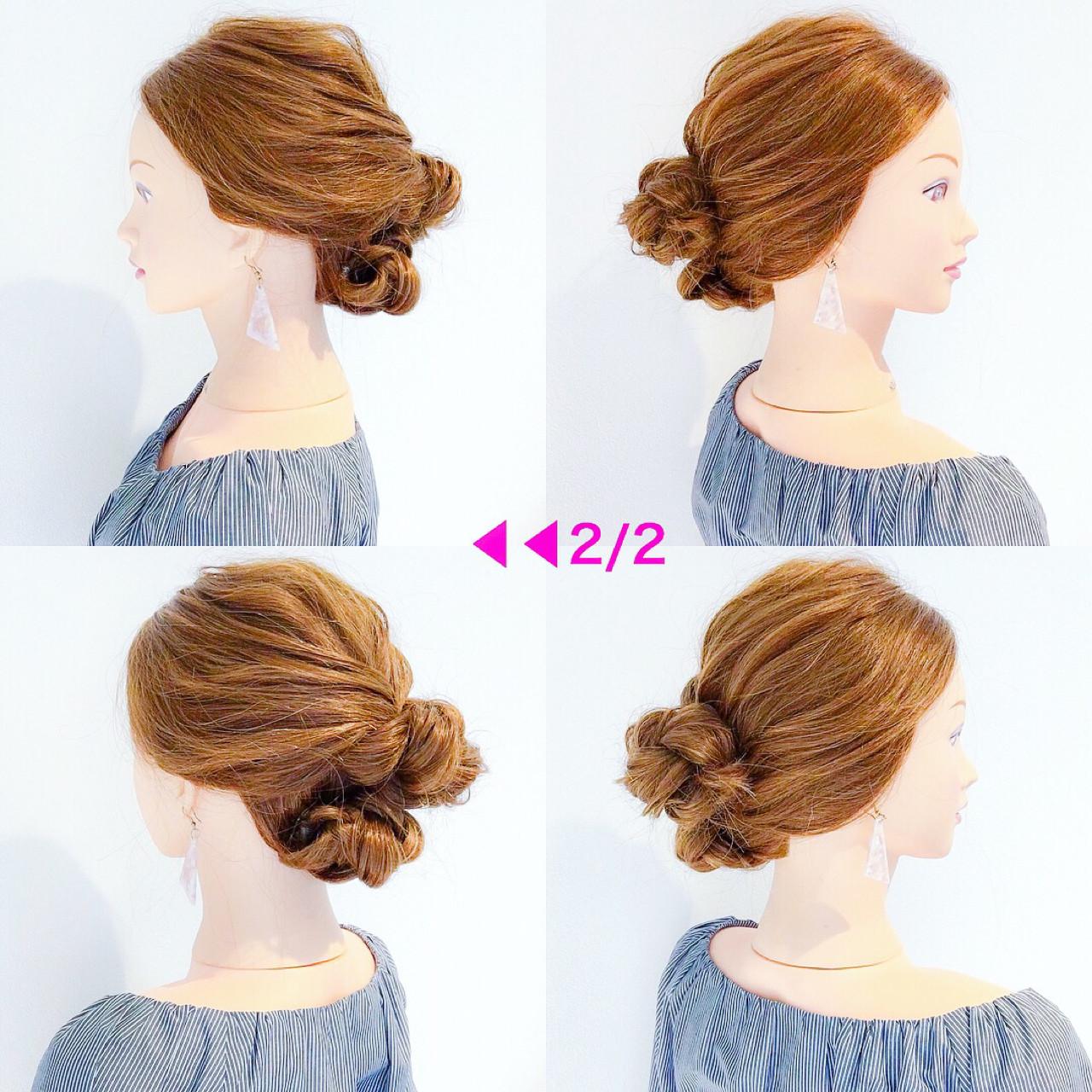 ヘアアレンジ デート アウトドア フェミニン ヘアスタイルや髪型の写真・画像 | 美容師HIRO/Amoute代表 / Amoute/アムティ