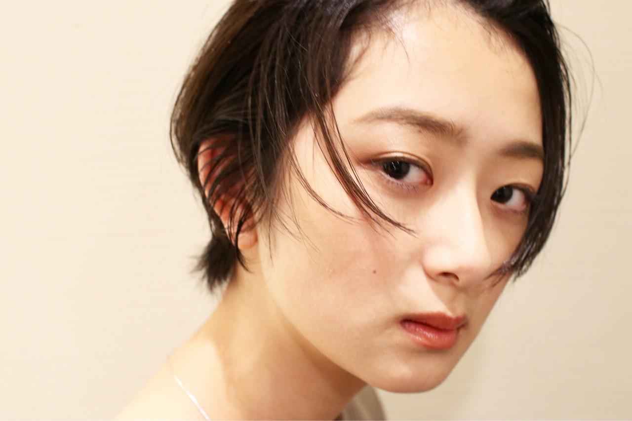 簡単ヘアアレンジ ヘアアレンジ 黒髪 ショート ヘアスタイルや髪型の写真・画像 | 京都/片山 勇馬/ショート / snob
